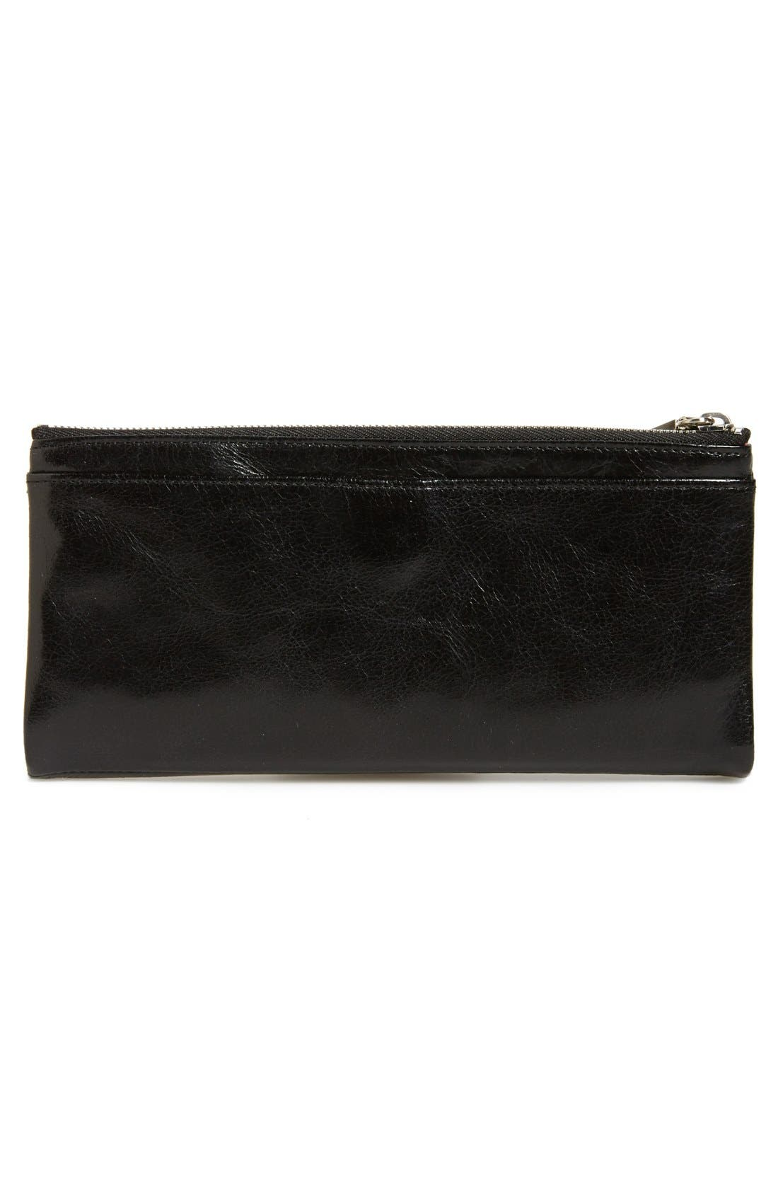 HOBO, Taylor Glazed Wallet, Alternate thumbnail 11, color, BLACK