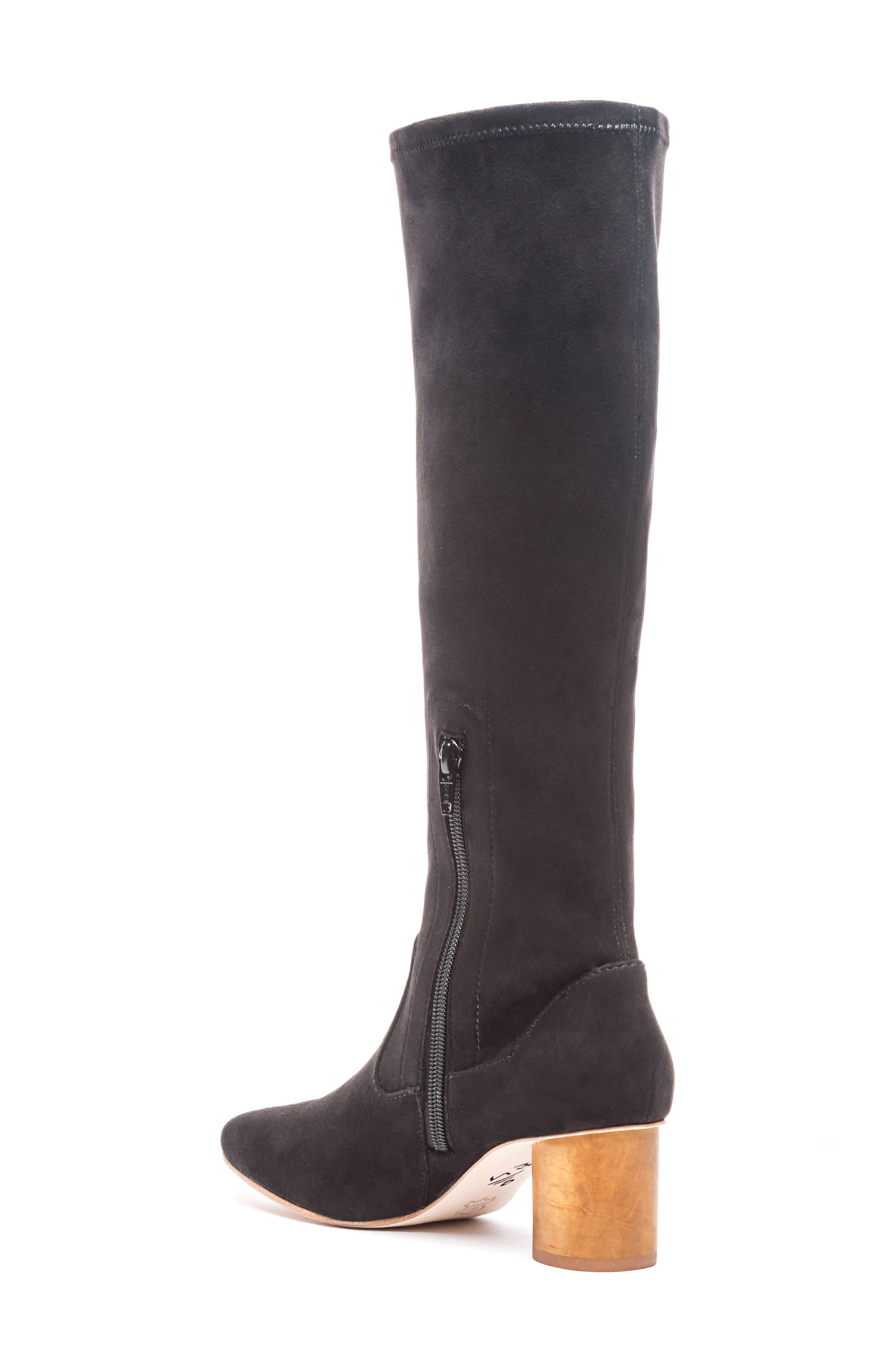 BERNARDO, Knee High Boot, Alternate thumbnail 2, color, BLACK LEATHER