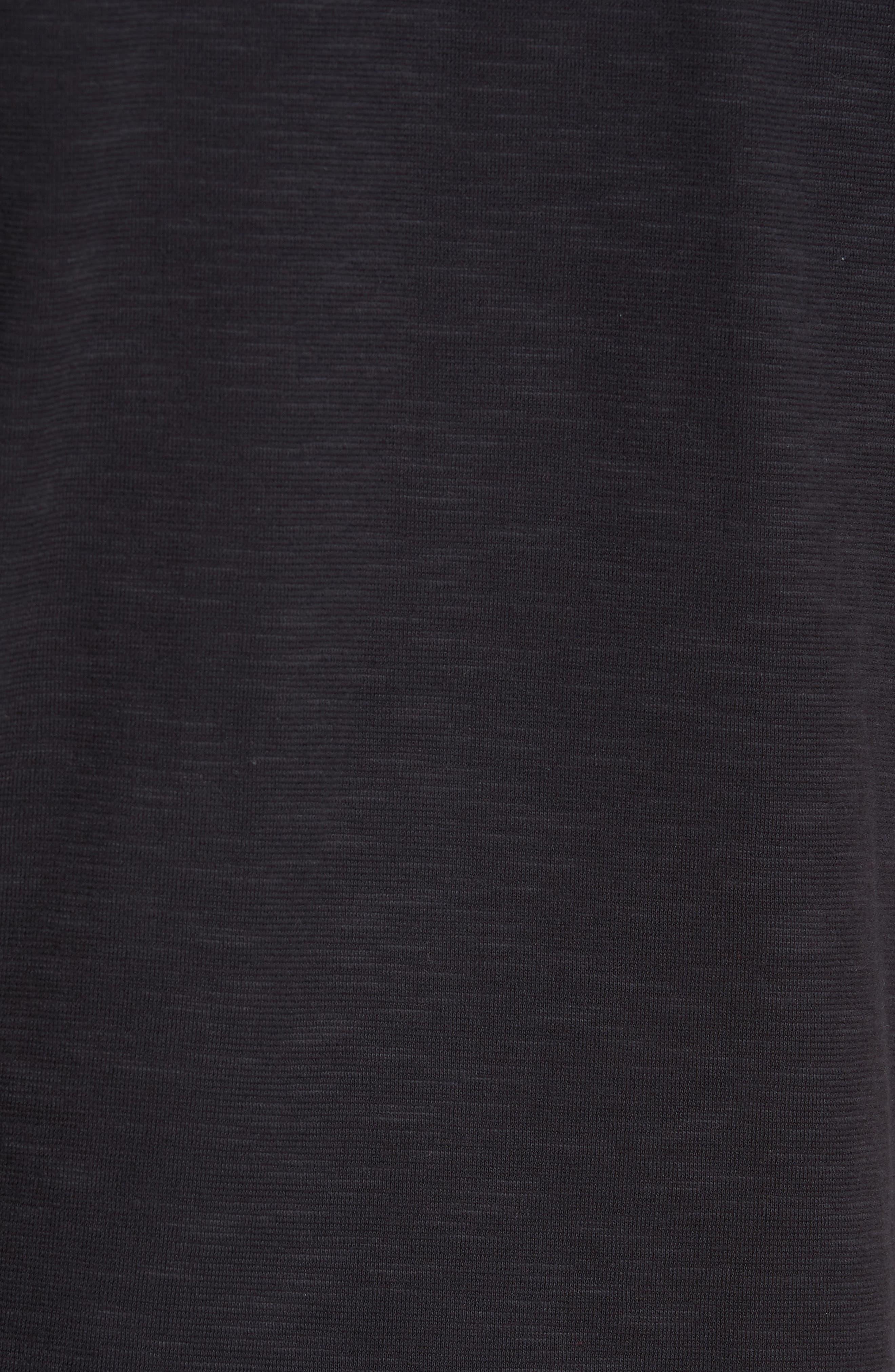 GOOD MAN BRAND, Slub Jersey Cotton Polo Shirt, Alternate thumbnail 5, color, BLACK