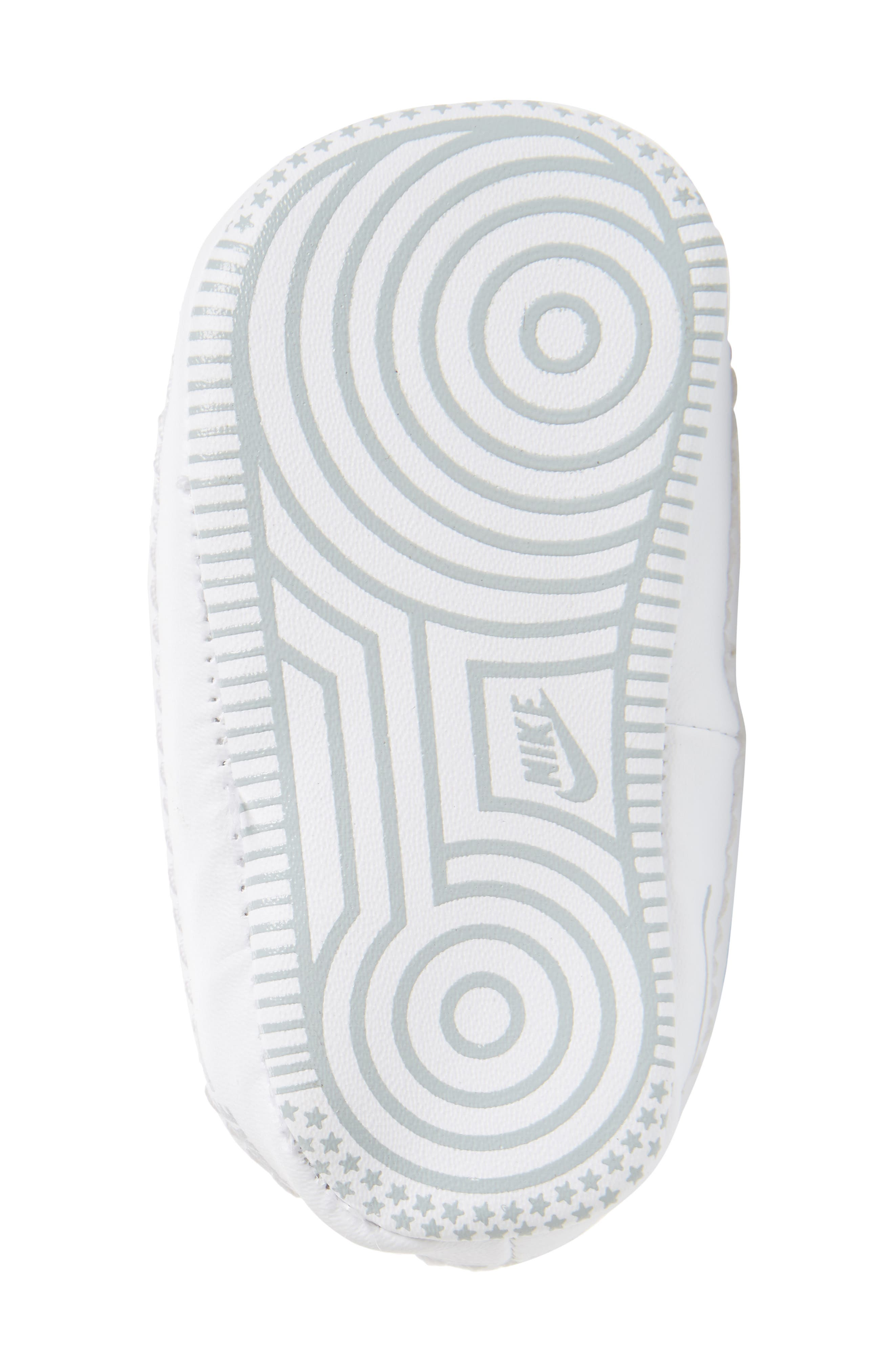 NIKE, Air Force 1 Sneaker, Alternate thumbnail 6, color, WHITE/ WHITE/ WHITE