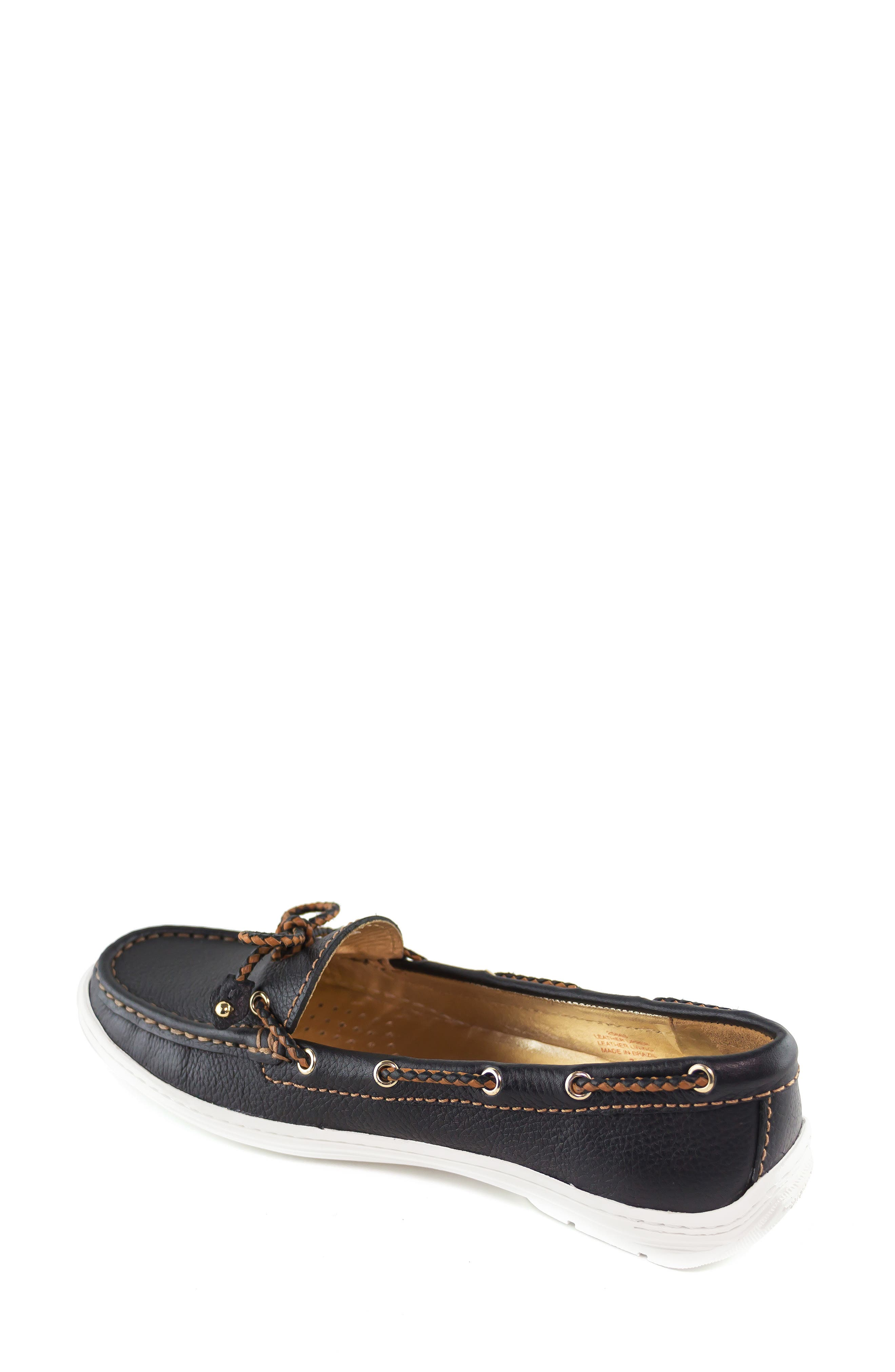 MARC JOSEPH NEW YORK, Pacific Loafer, Alternate thumbnail 2, color, BLACK LEATHER