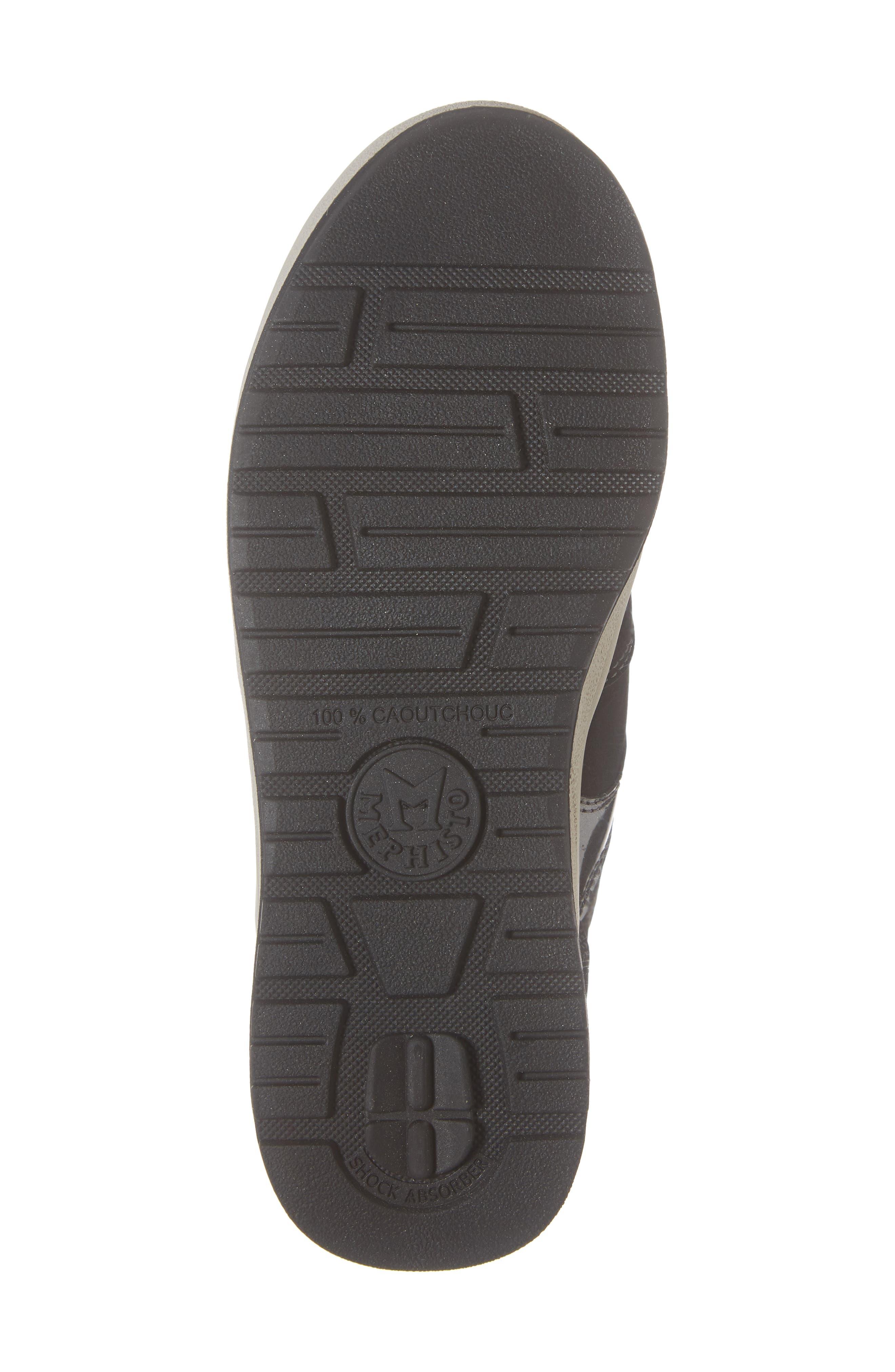 MEPHISTO, Rebeca Sneaker, Alternate thumbnail 6, color, BLACK FABRIC