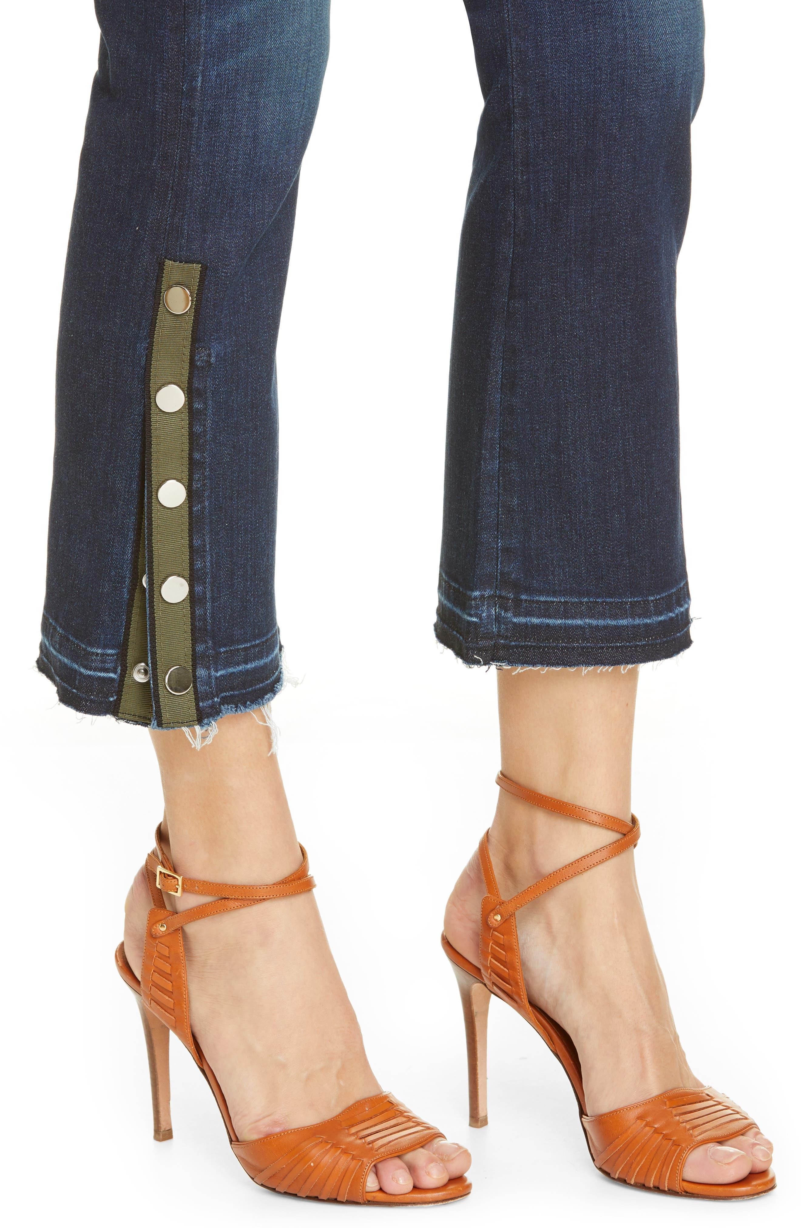 VERONICA BEARD, Carolyn Side Vent Baby Boot Jeans, Alternate thumbnail 5, color, DARK VINTAGE