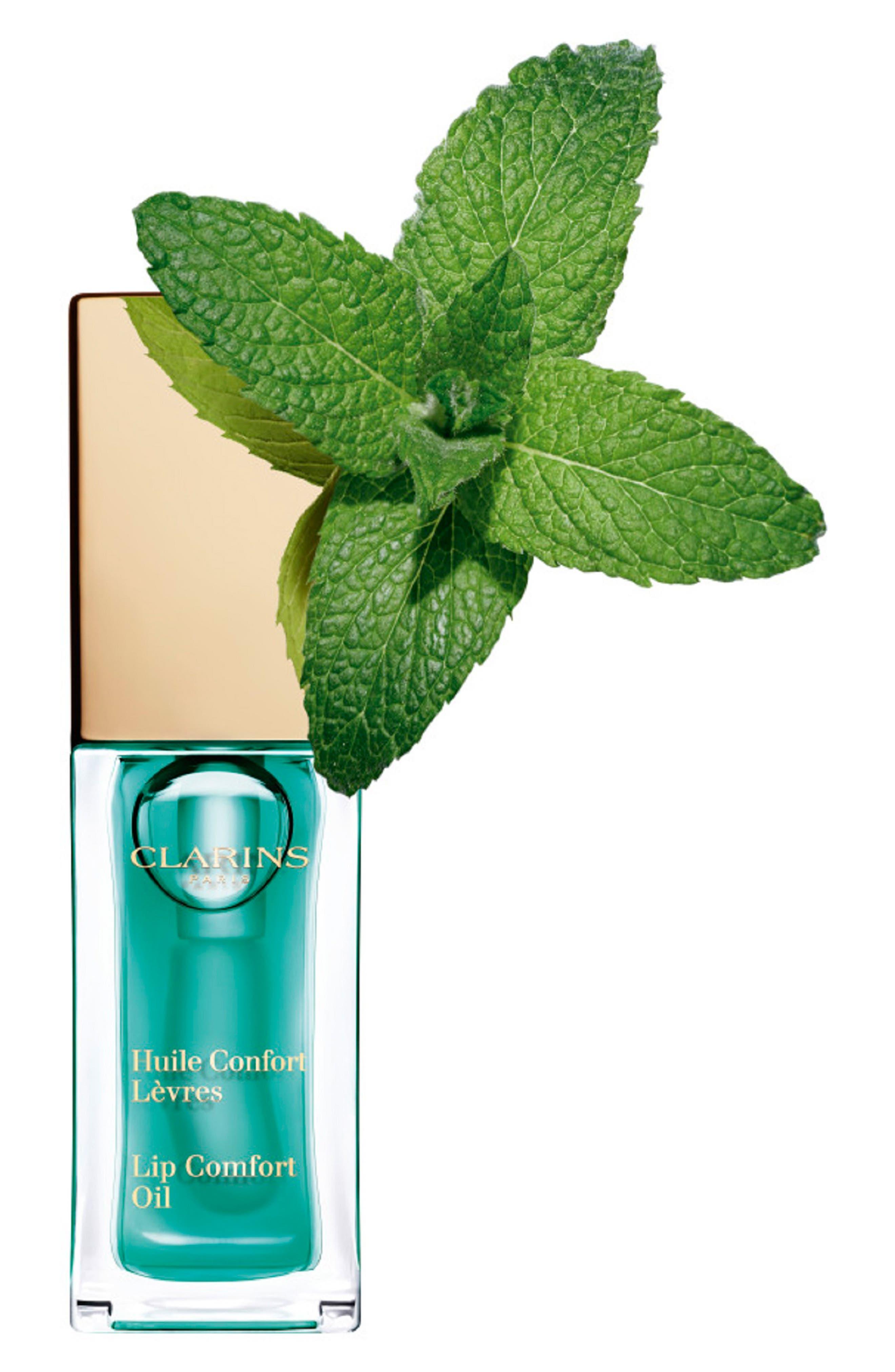 CLARINS, Instant Light Lip Comfort Oil, Alternate thumbnail 4, color, 06 MINT