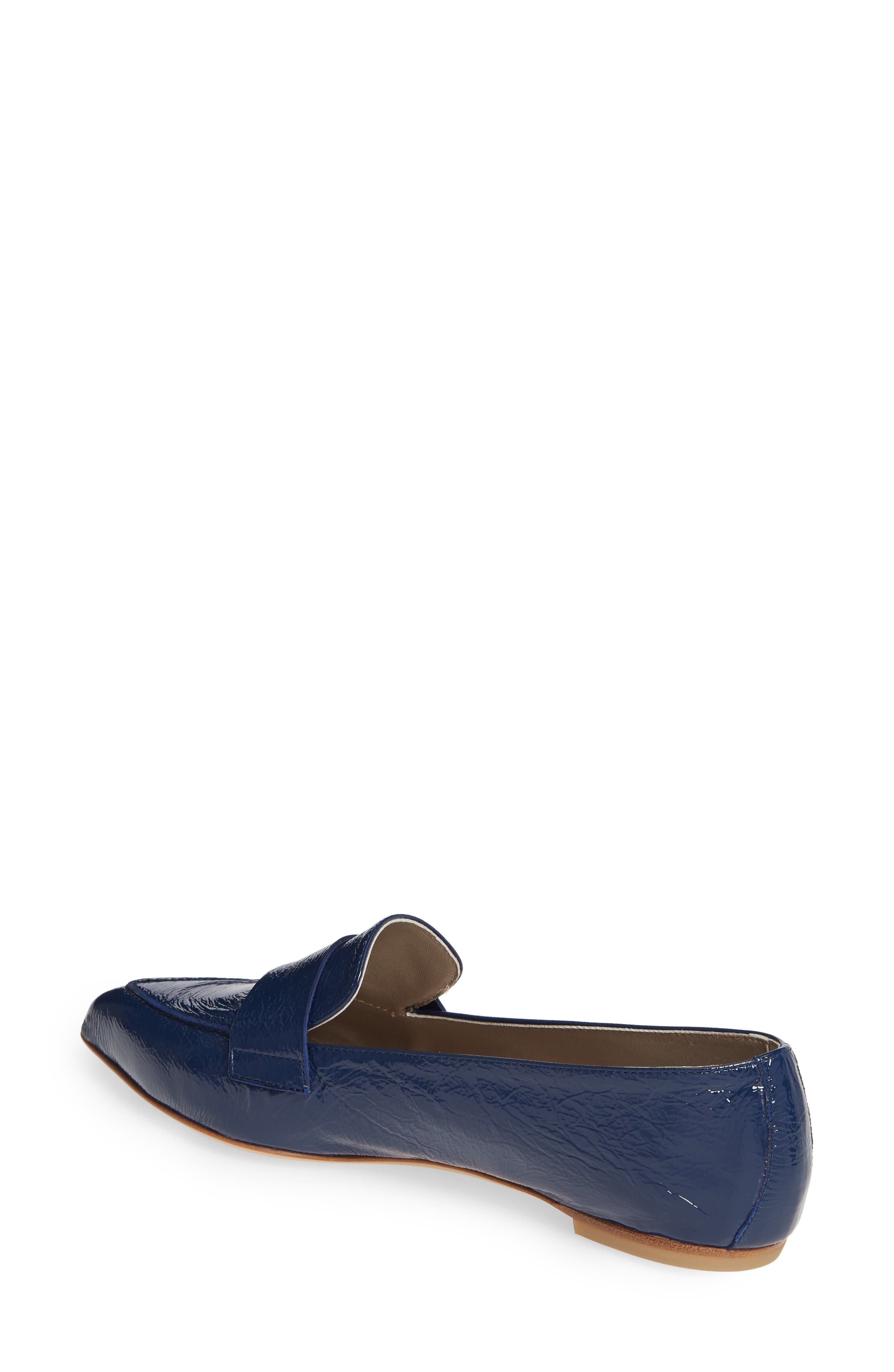 AGL, Softy Pointy Toe Moccasin Loafer, Alternate thumbnail 2, color, OCEAN PATENT