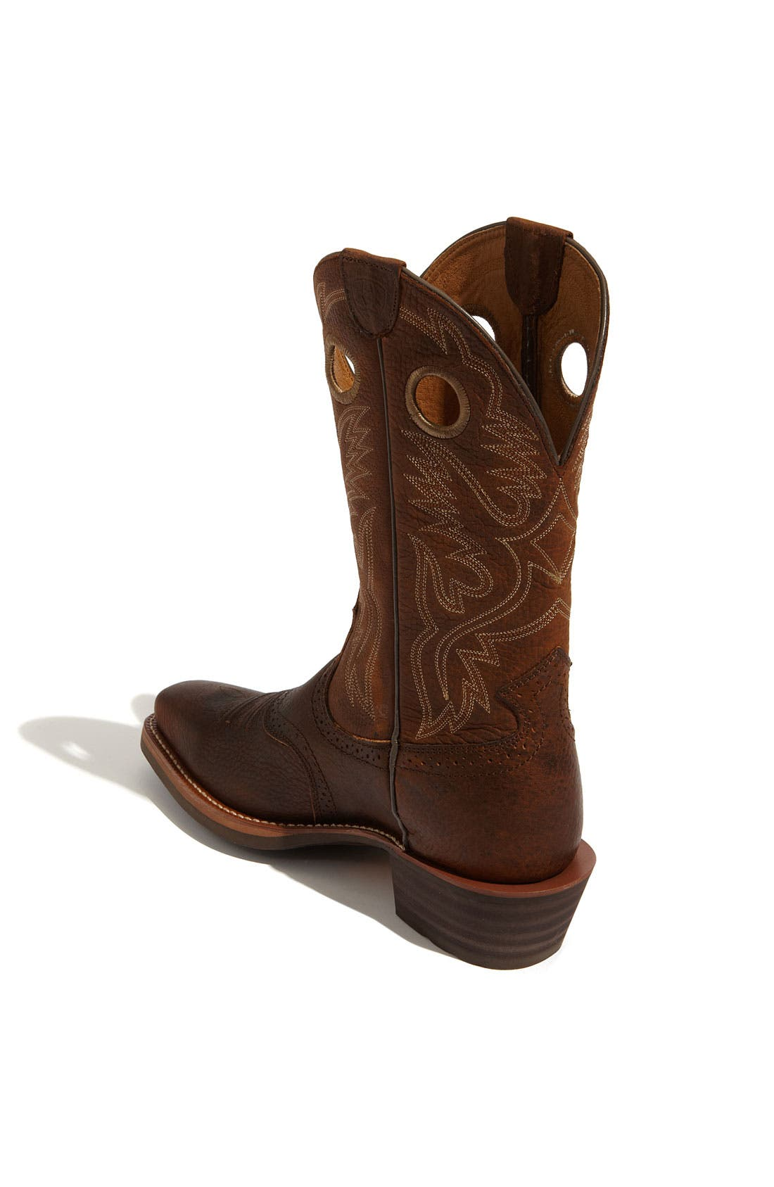 ARIAT, 'Heritage Roughstock' Boot, Alternate thumbnail 2, color, OILED BROWN