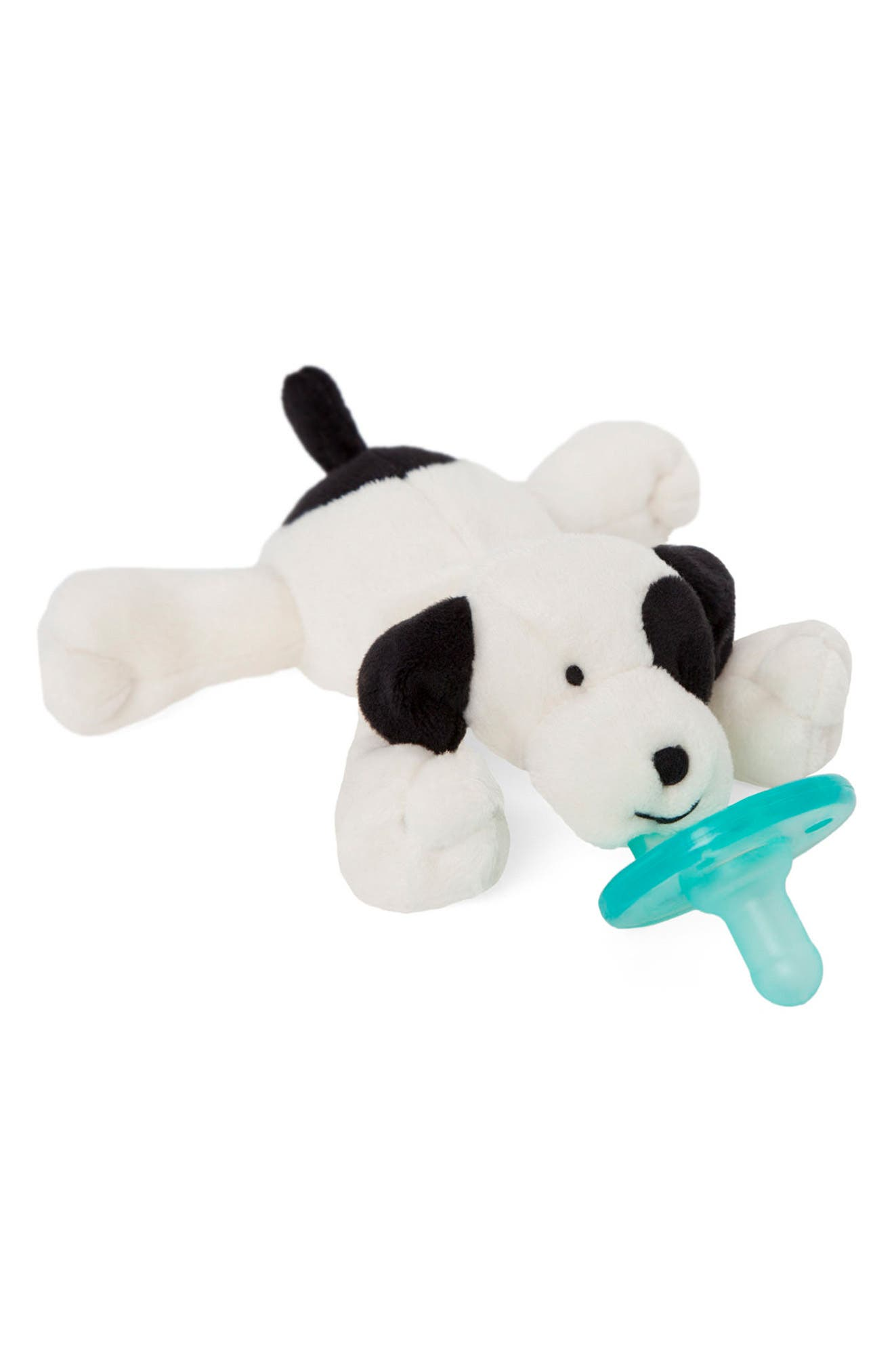 WUBBANUB<SUP>™</SUP>, Puppy Pacifier Toy, Alternate thumbnail 3, color, IVORY/ BLACK