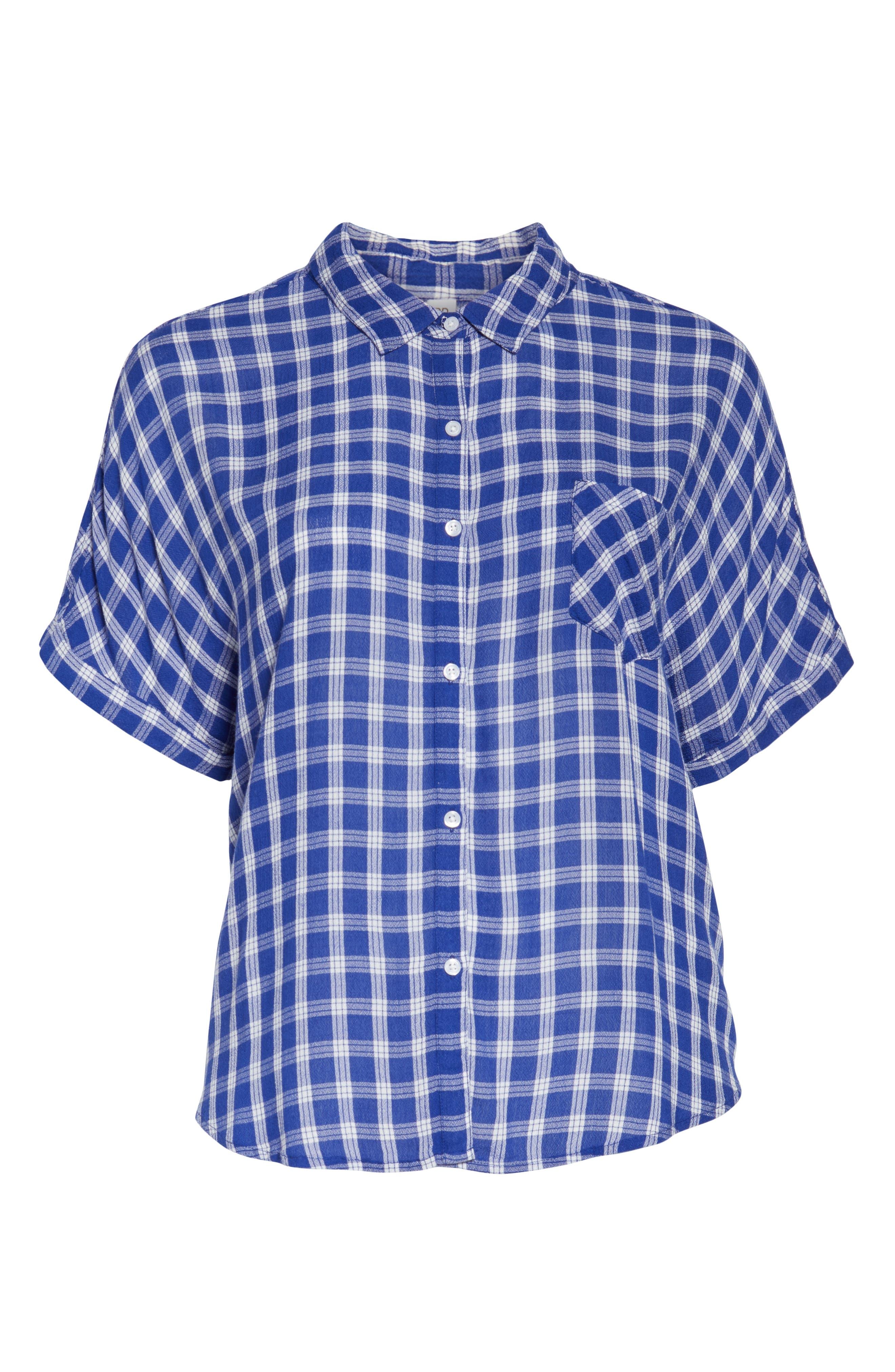BP., Plaid Dolman Sleeve Shirt, Alternate thumbnail 12, color, 420