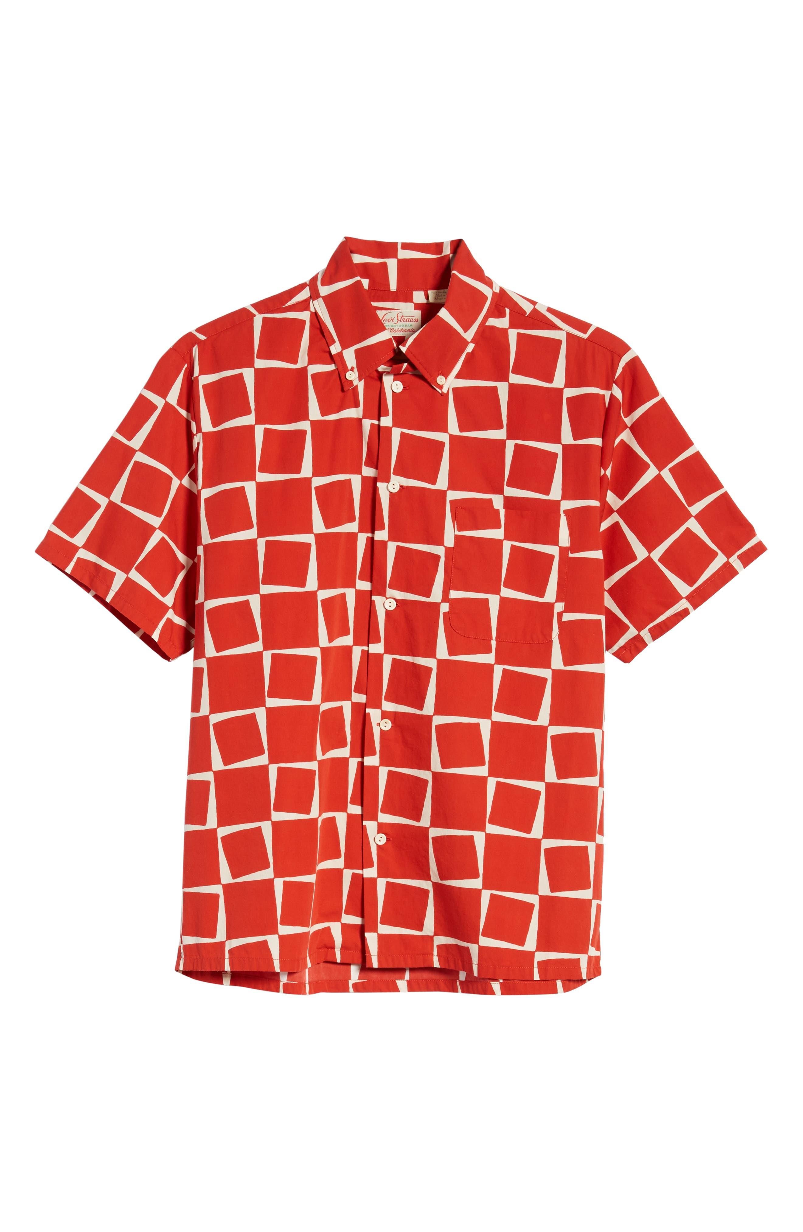 LEVI'S<SUP>®</SUP> VINTAGE CLOTHING, 1950s Regular Atomic Square Woven Shirt, Alternate thumbnail 5, color, 600