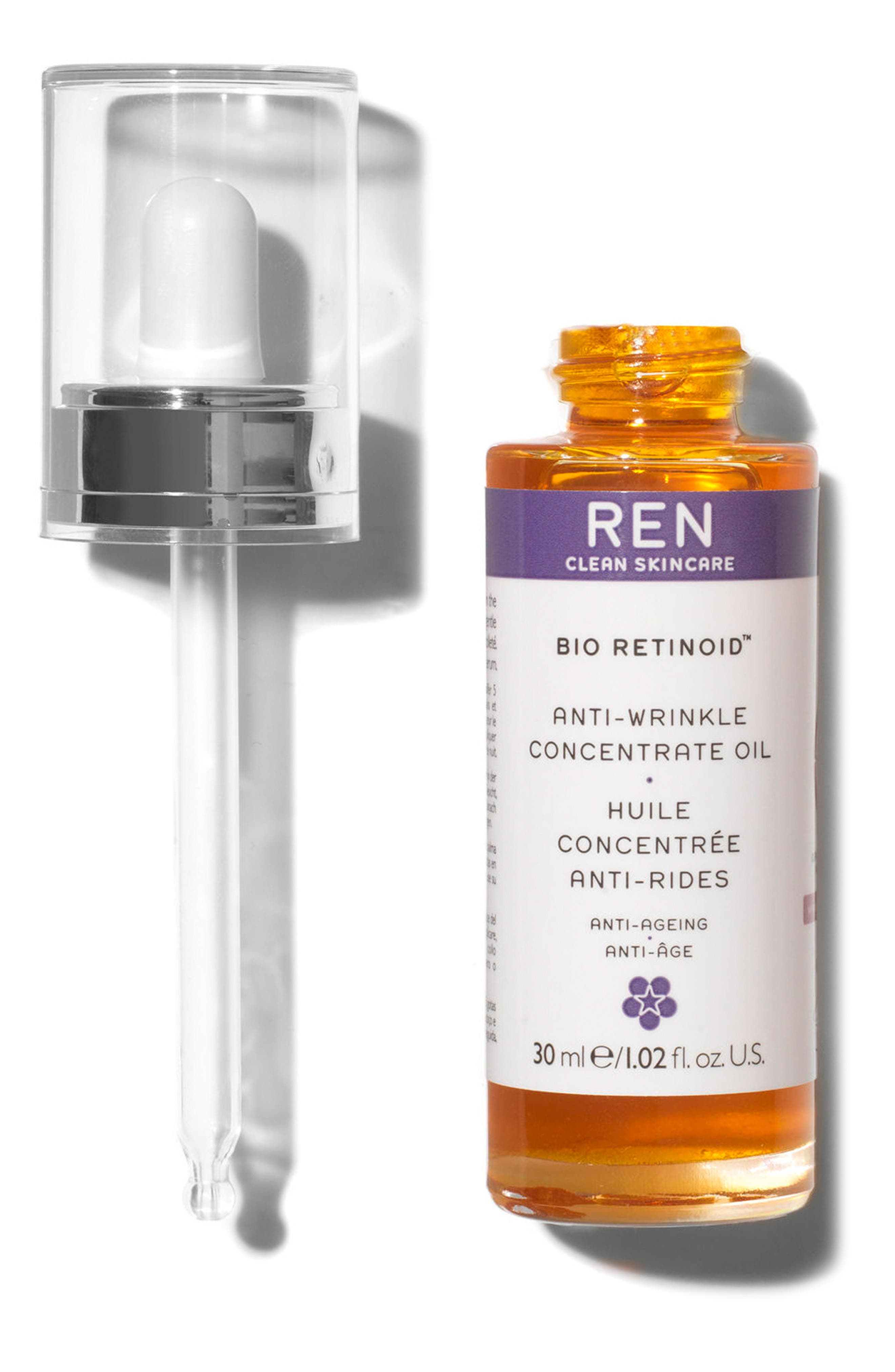 REN, SPACE.NK.apothecary REN Bio Retinoid Anti-Wrinkle Concentrate Oil, Alternate thumbnail 2, color, 000
