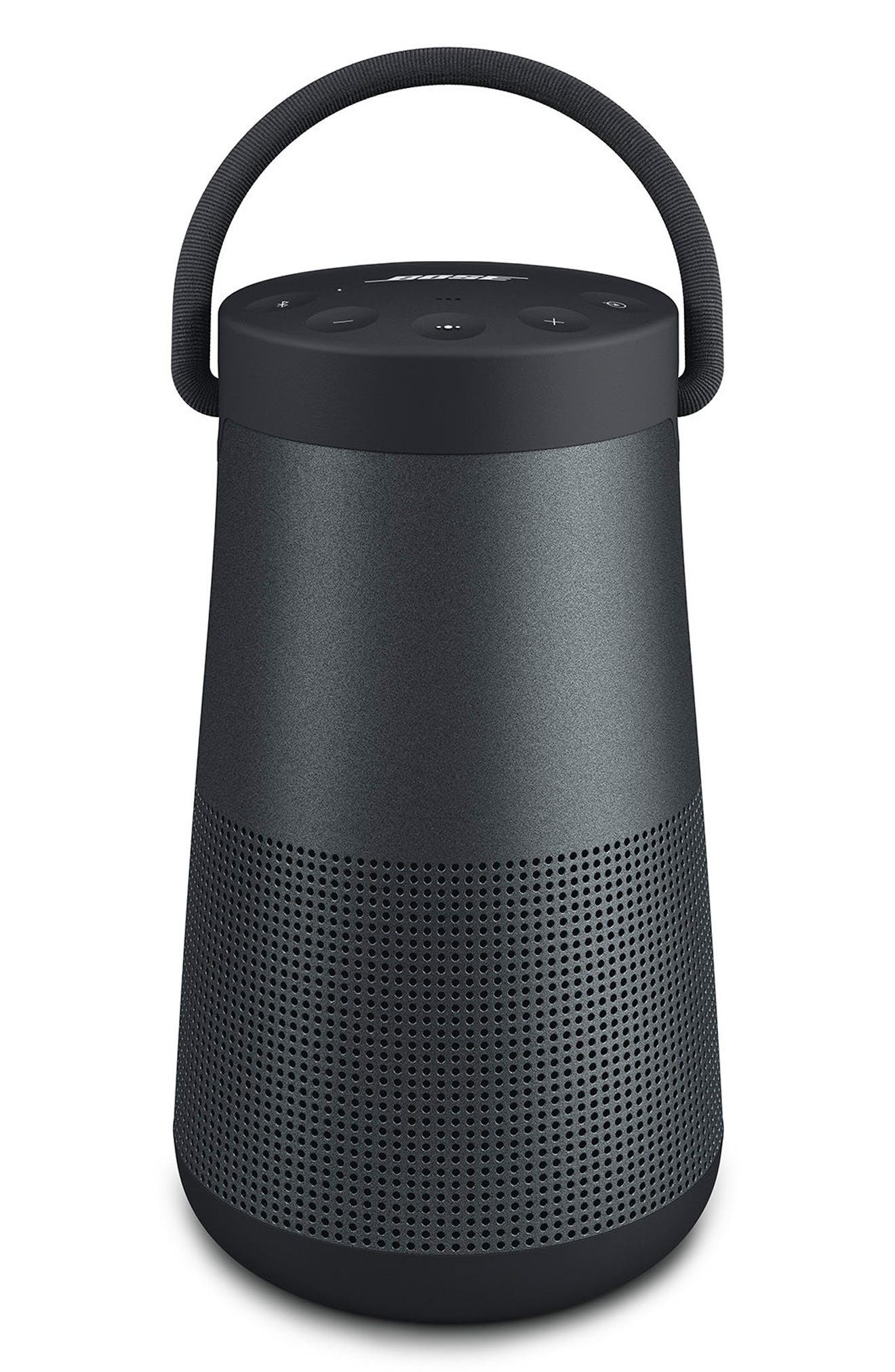 BOSE<SUP>®</SUP>, SoundLink<sup>®</sup> Revolve+ Bluetooth<sup>®</sup> Speaker, Main thumbnail 1, color, BLACK