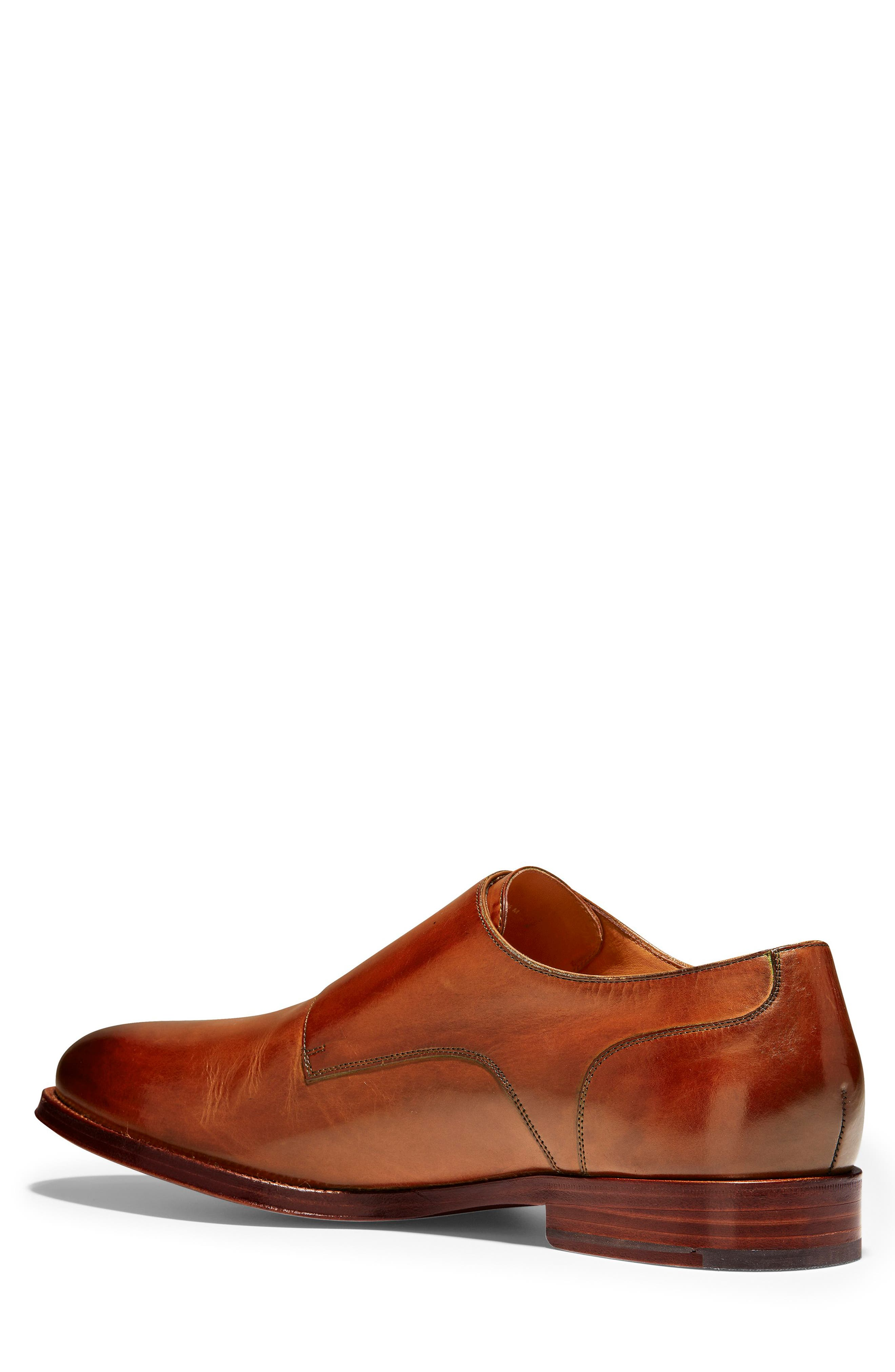 COLE HAAN, American Classics Gramercy Double Strap Monk Shoe, Alternate thumbnail 2, color, BRITISH TAN LEATHER