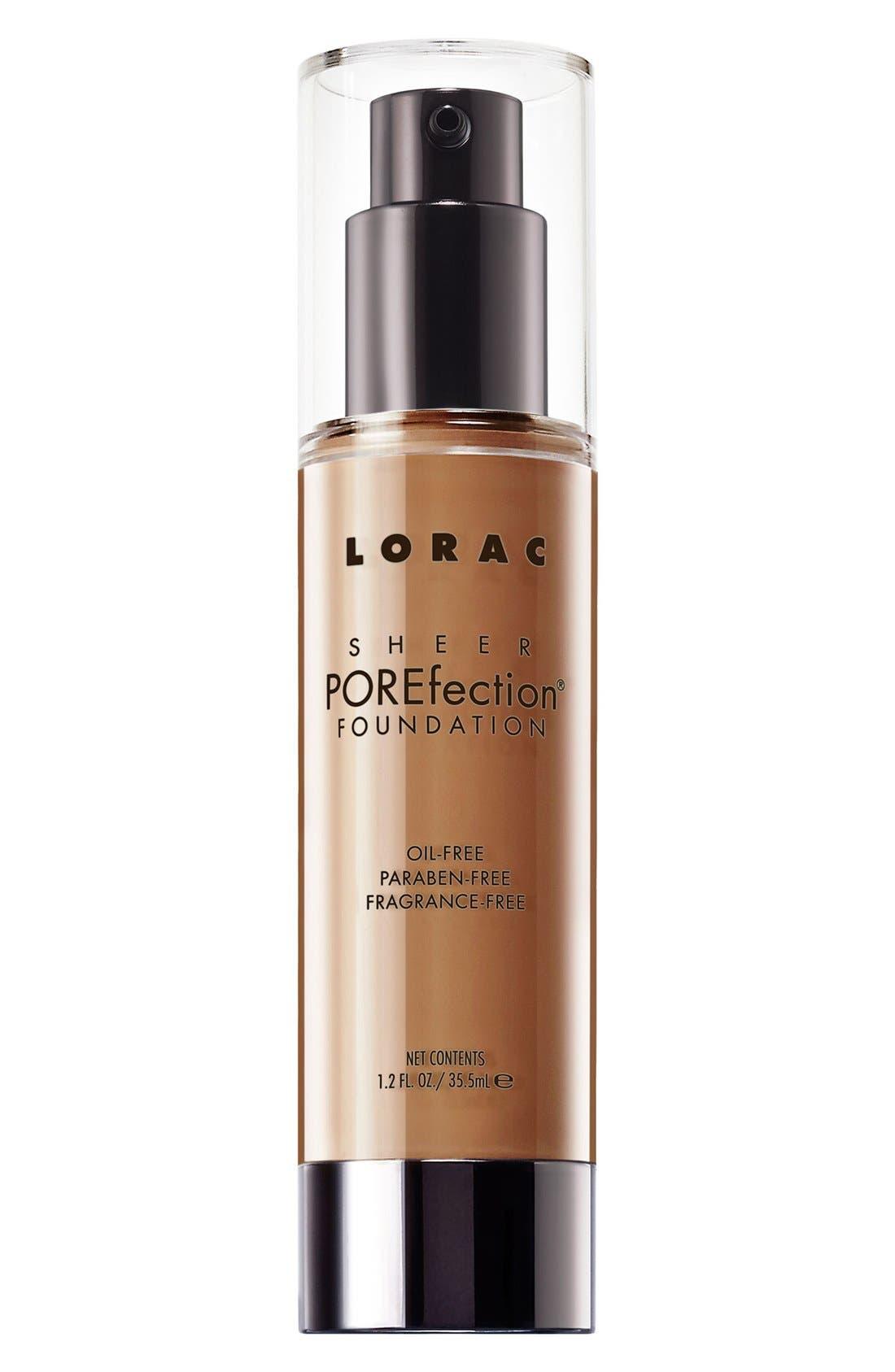 LORAC 'Sheer POREfection<sup>®</sup>' Foundation, Main, color, PS8 TAN