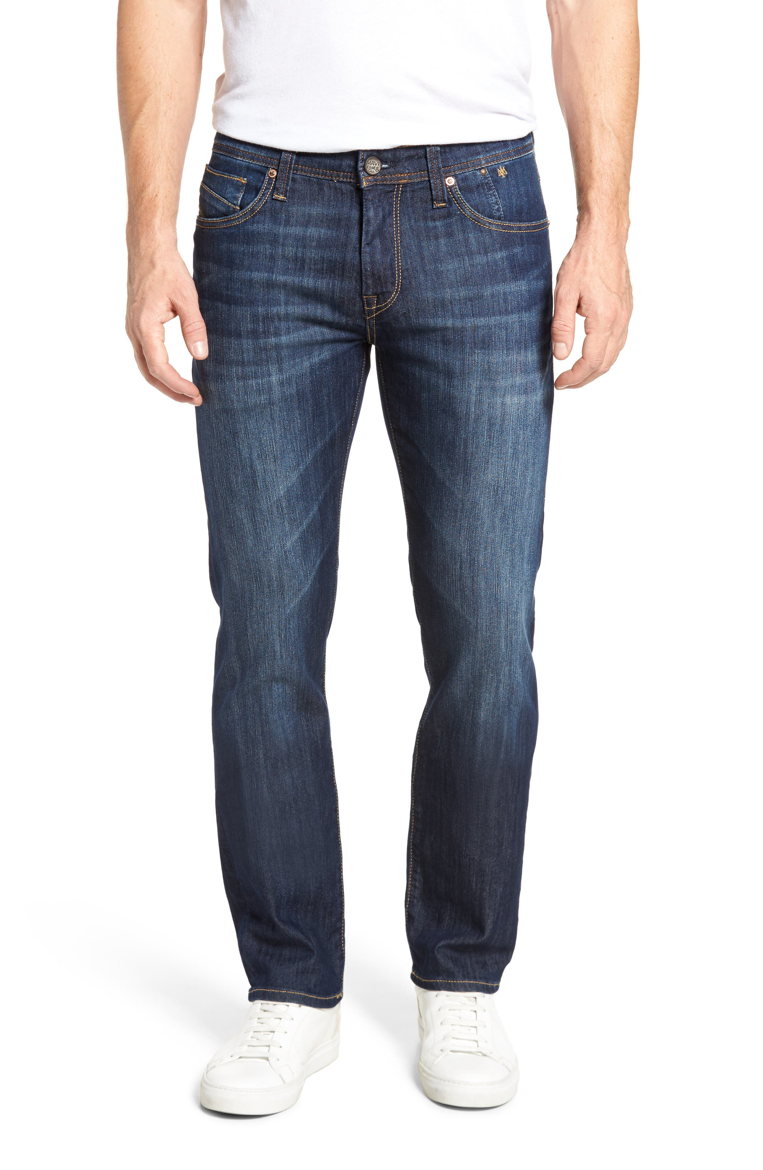 MAVI JEANS, Zach Straight Leg Jeans, Main thumbnail 1, color, DARK MAUI