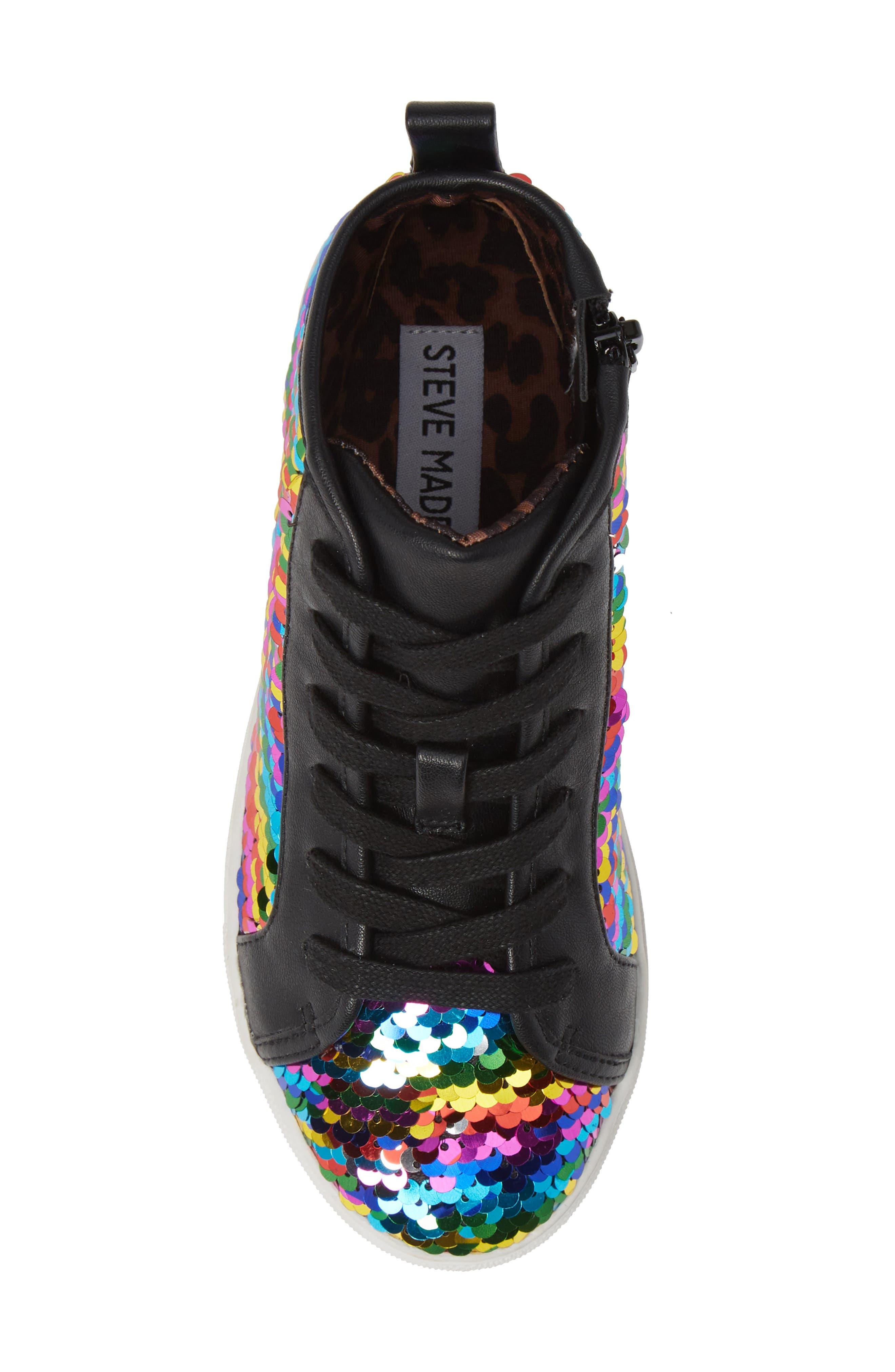 STEVE MADDEN, JSEEKER Sneaker, Alternate thumbnail 5, color, MULTI