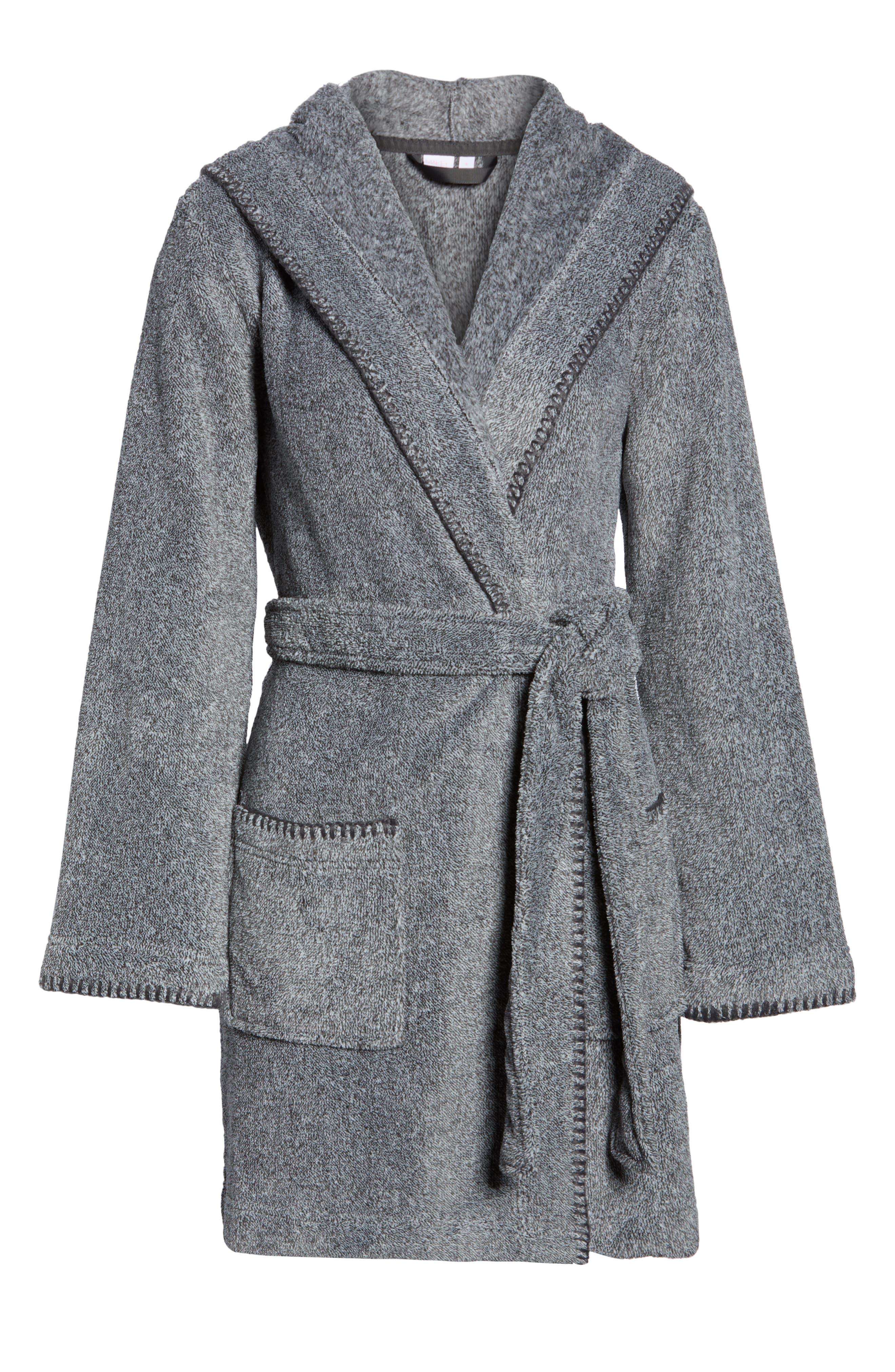 MAKE + MODEL, Starry Night Plush Short Robe, Alternate thumbnail 6, color, 022