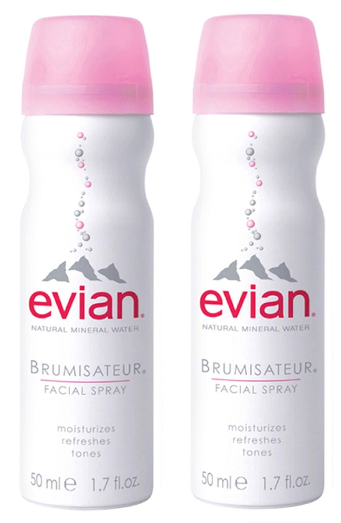 EVIAN,  Mini Facial Water Spray Duo, Main thumbnail 1, color, NO COLOR