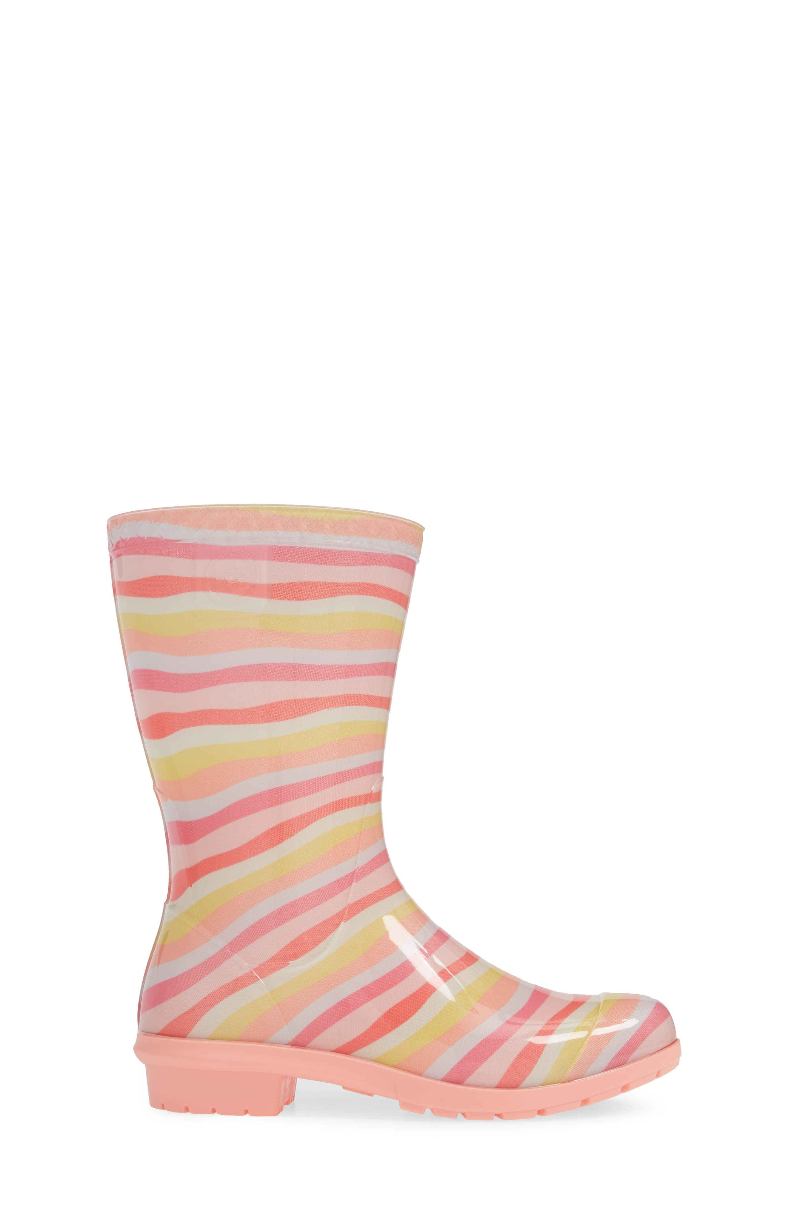 UGG<SUP>®</SUP>, Raana Waterproof Rain Boot, Alternate thumbnail 3, color, RAINBOW