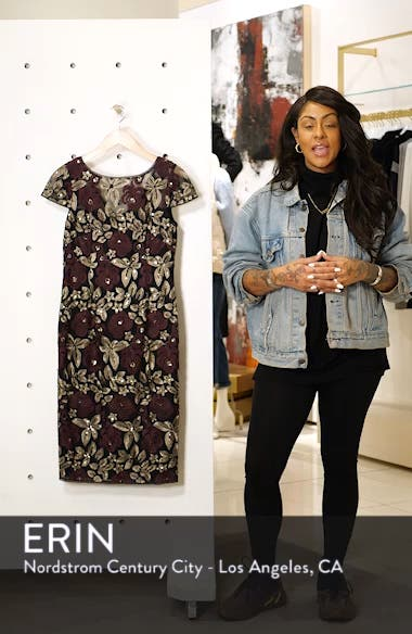 Sequin Embroidered Cocktail Dress, sales video thumbnail