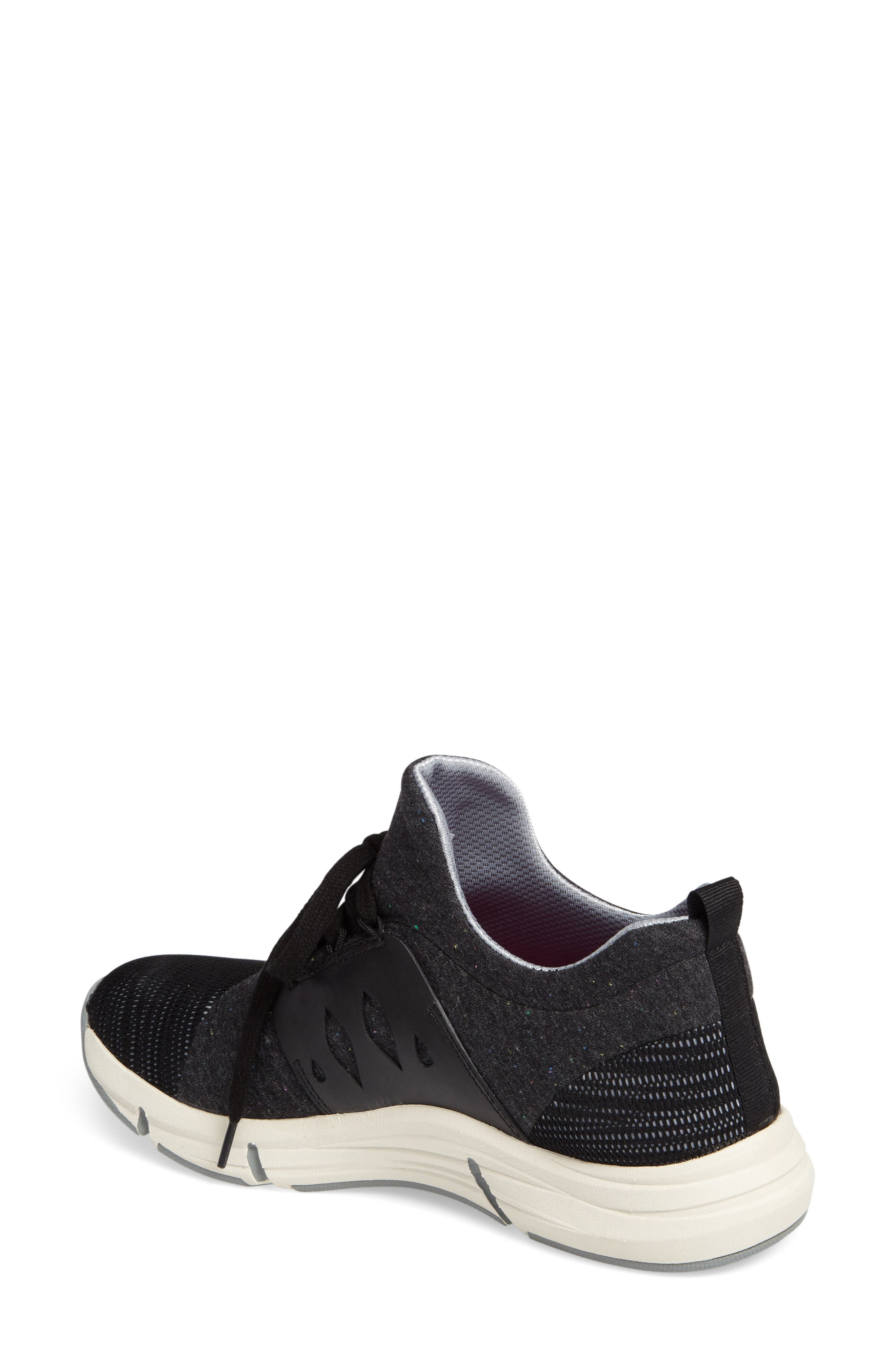 BIONICA, Ordell Sneaker, Alternate thumbnail 2, color, BLACK FABRIC