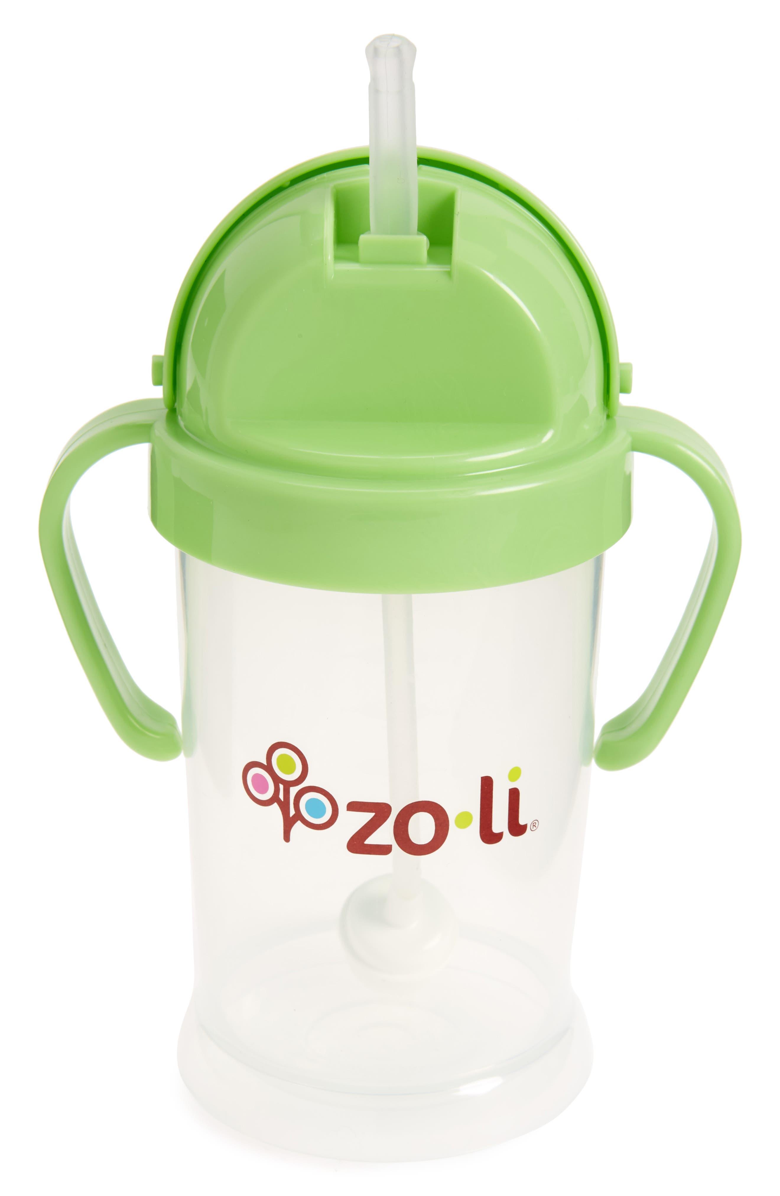 ZOLI, 'BOT XL' Sippy Cup, Alternate thumbnail 2, color, GREEN