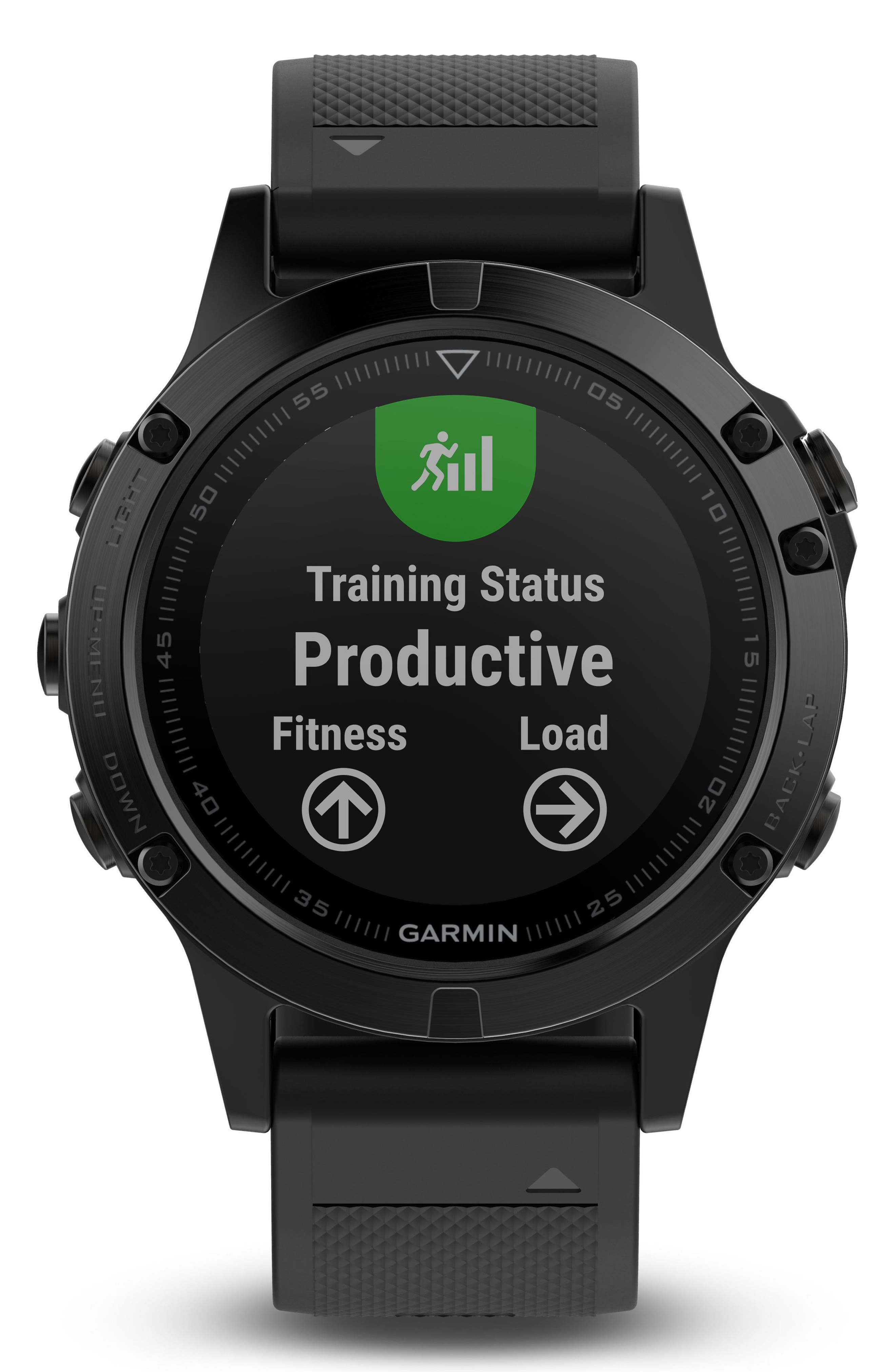 GARMIN, fenix<sup>®</sup> 5 Sapphire Premium Multisport GPS Watch, 47mm, Main thumbnail 1, color, BLACK/ BLACK SAPPHIRE