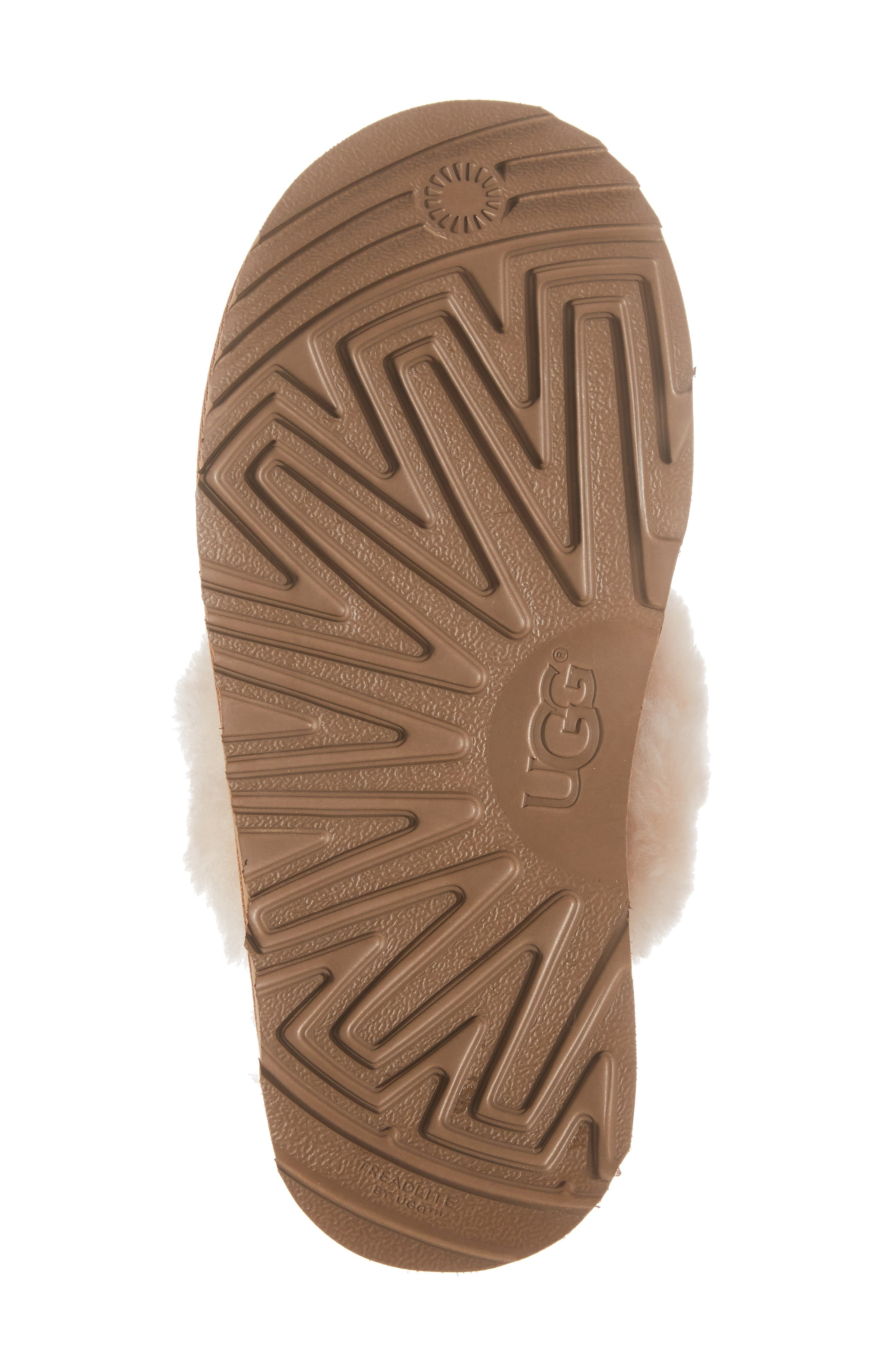 UGG<SUP>®</SUP>, Cozy II Scuff Slipper, Alternate thumbnail 6, color, CHESTNUT