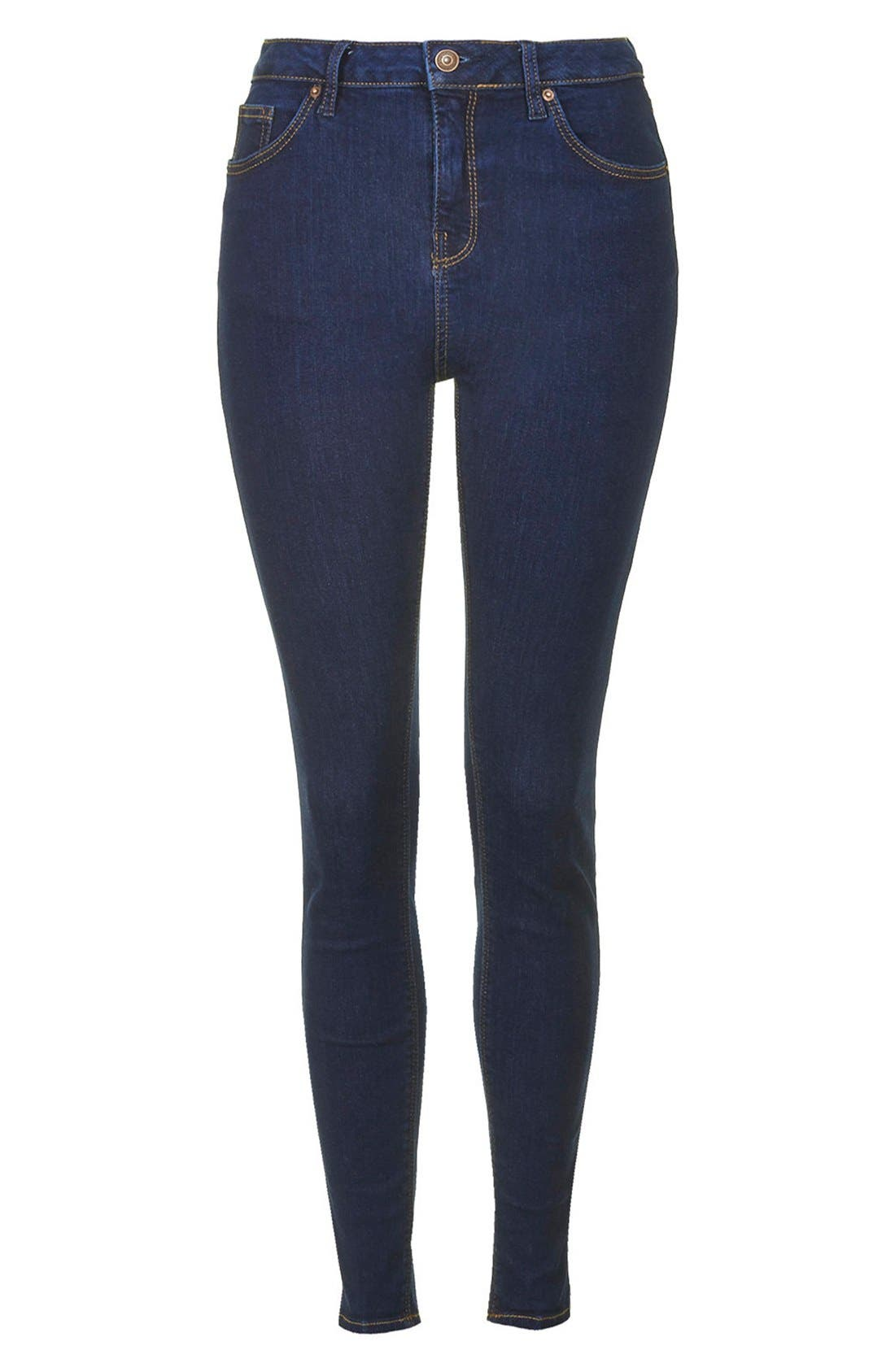 TOPSHOP, Moto 'Jamie' Skinny Jeans, Alternate thumbnail 3, color, 400
