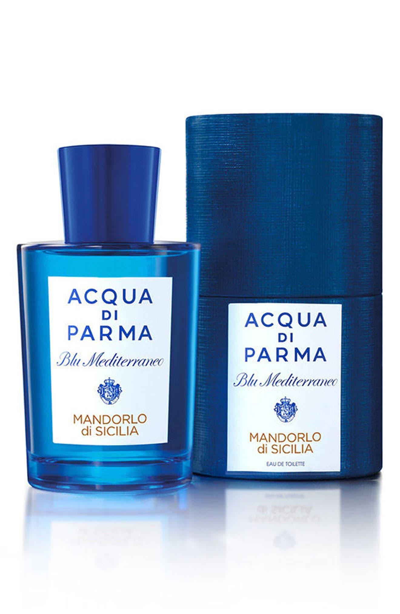 ACQUA DI PARMA, 'Blu Mediterraneo' Mandorlo di Sicilia Eau de Toilette Spray, Alternate thumbnail 4, color, NO COLOR