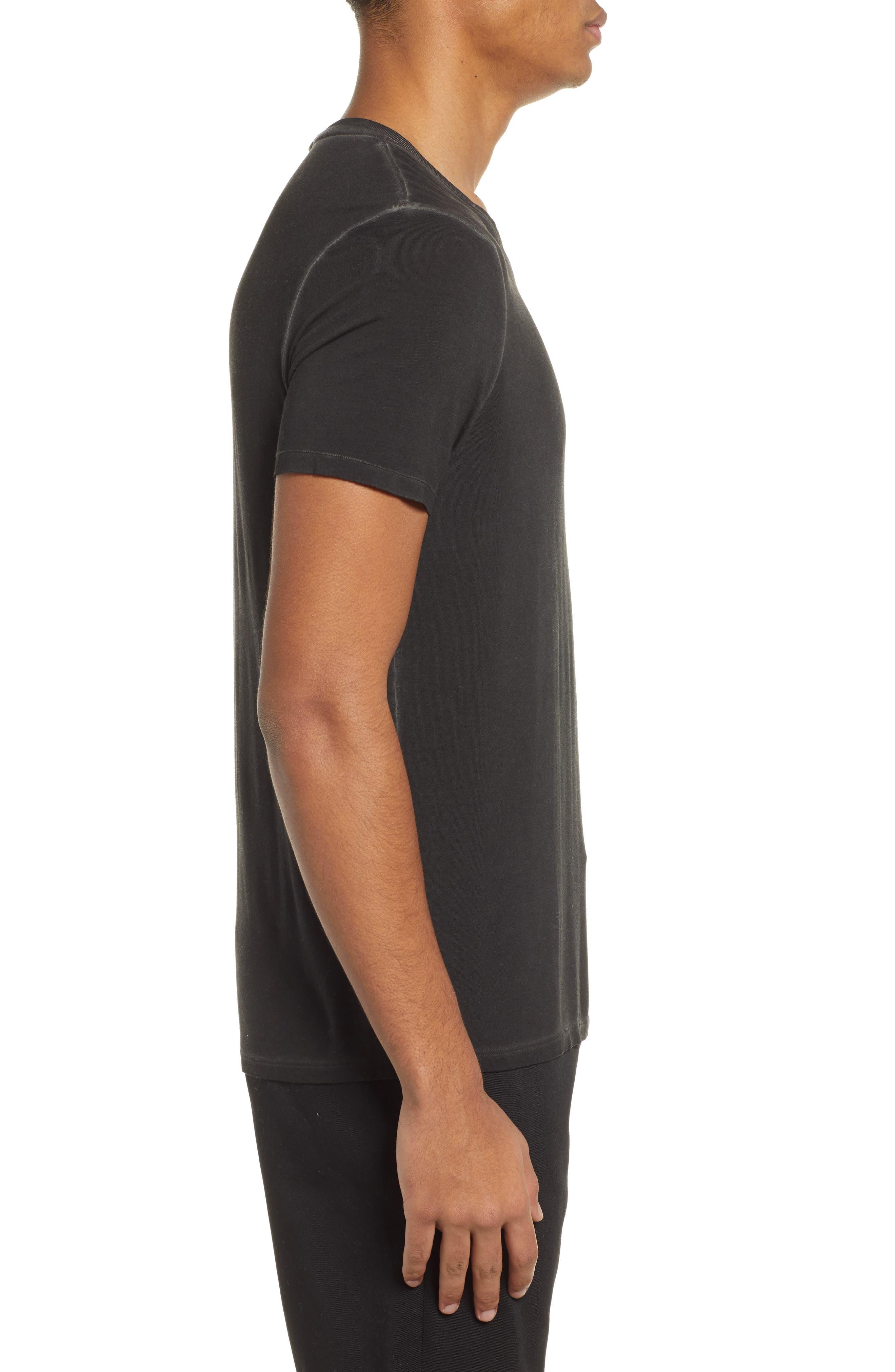 ATM ANTHONY THOMAS MELILLO, Sun Bleached Oversized T-Shirt, Alternate thumbnail 3, color, BLACK