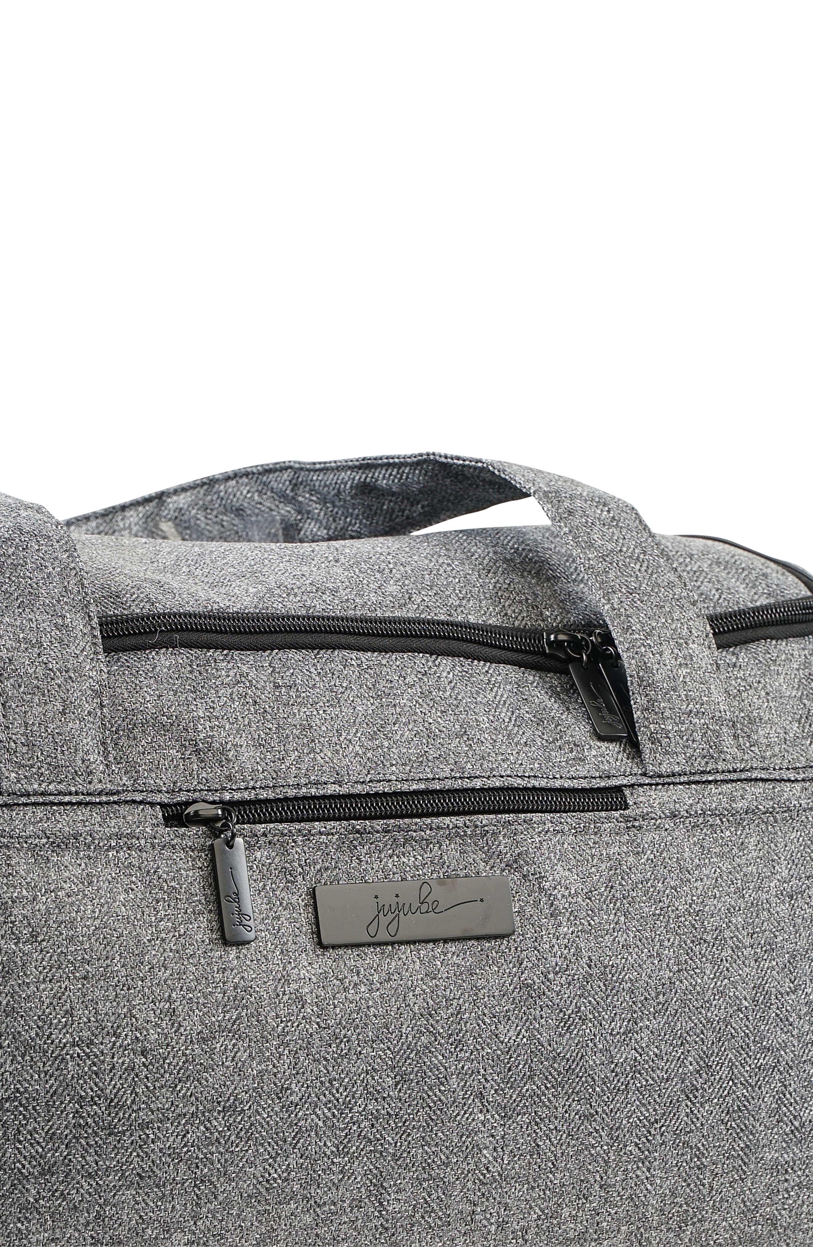 JU-JU-BE, Starlet Onyx Collection Travel Diaper Bag, Alternate thumbnail 3, color, GRAY MATTER