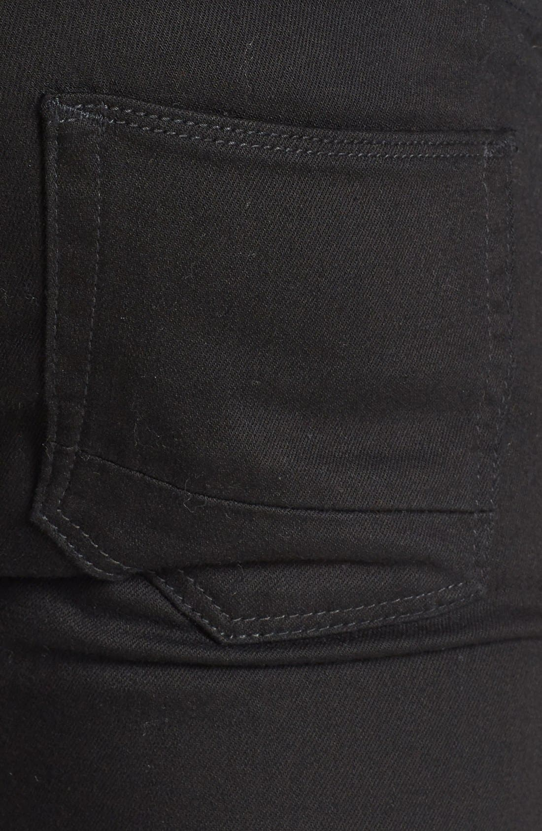 TOPMAN, Stretch Skinny Fit Jeans, Alternate thumbnail 5, color, 001