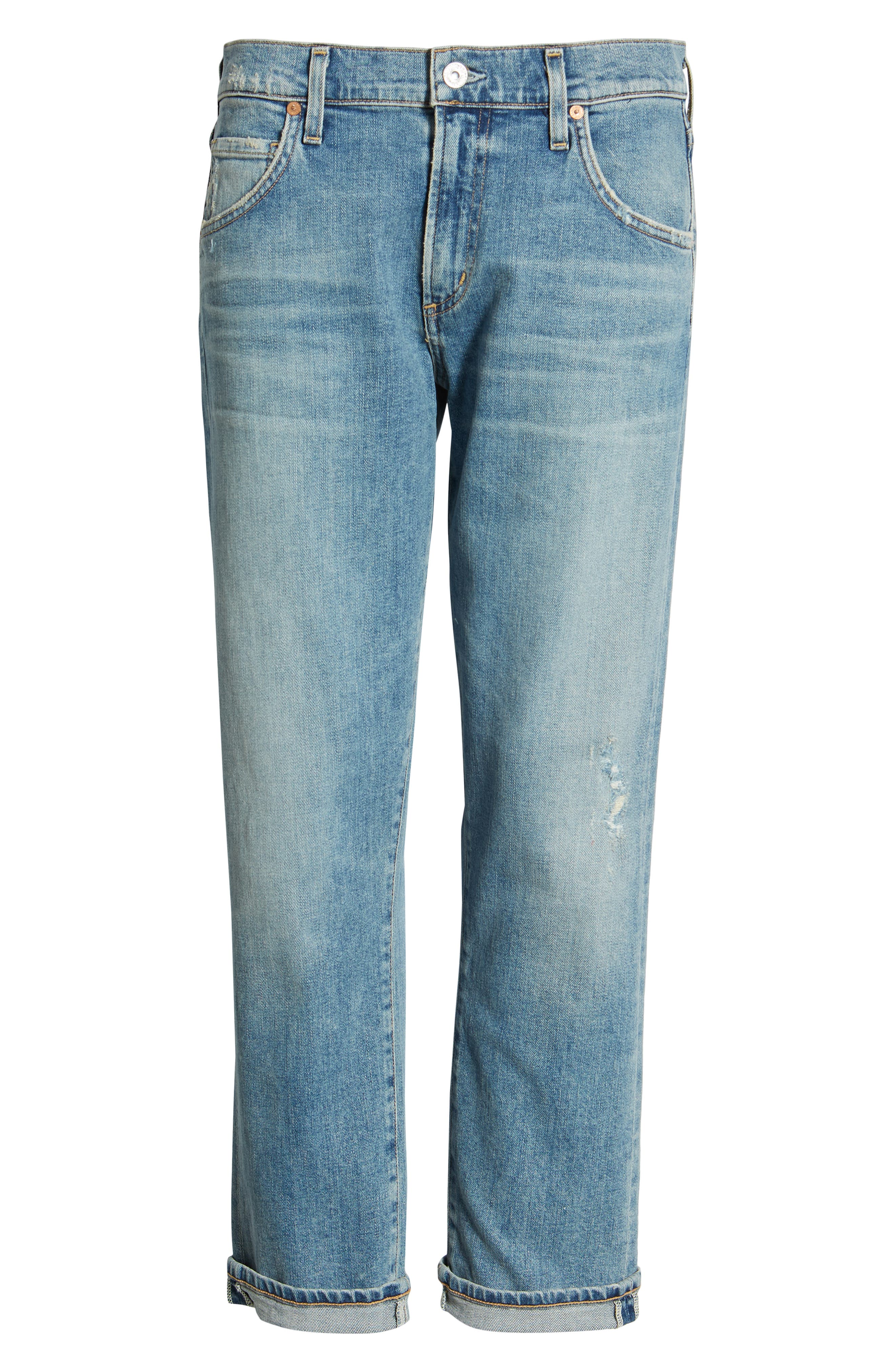 CITIZENS OF HUMANITY, Emerson Crop Slim Fit Boyfriend Jeans, Alternate thumbnail 7, color, MARINA