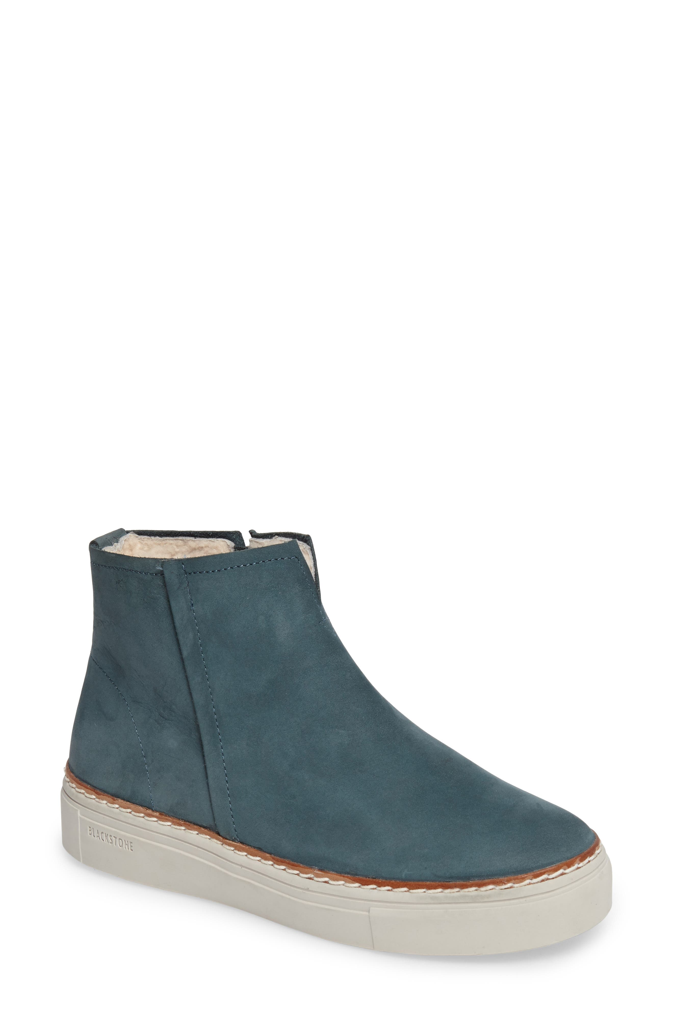 Blackstone Ol27 Genuine Shearling Lined Bootie Blue
