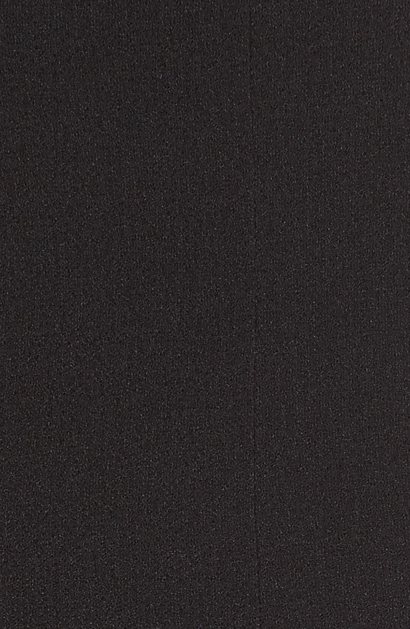 CHARLES HENRY, Tie Shoulder Jumpsuit, Alternate thumbnail 6, color, BLACK