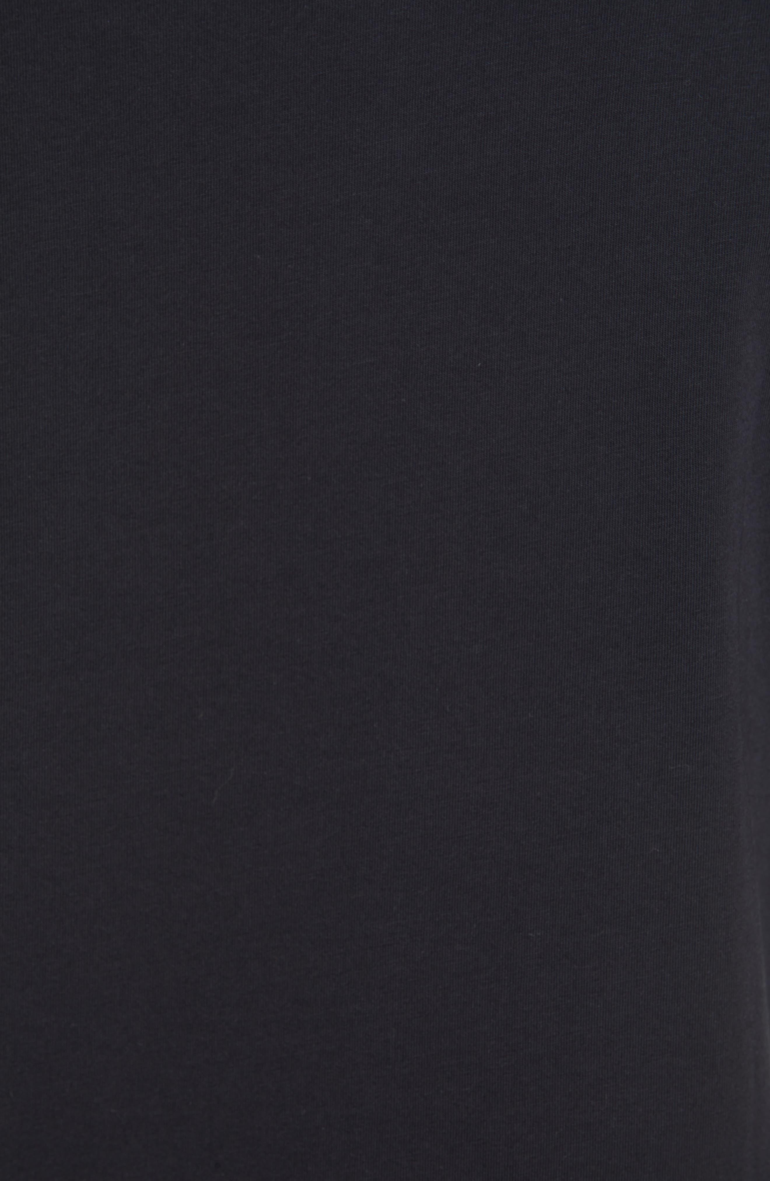 VERSACE COLLECTION, Medusa Long Sleeve T-Shirt, Alternate thumbnail 5, color, 001