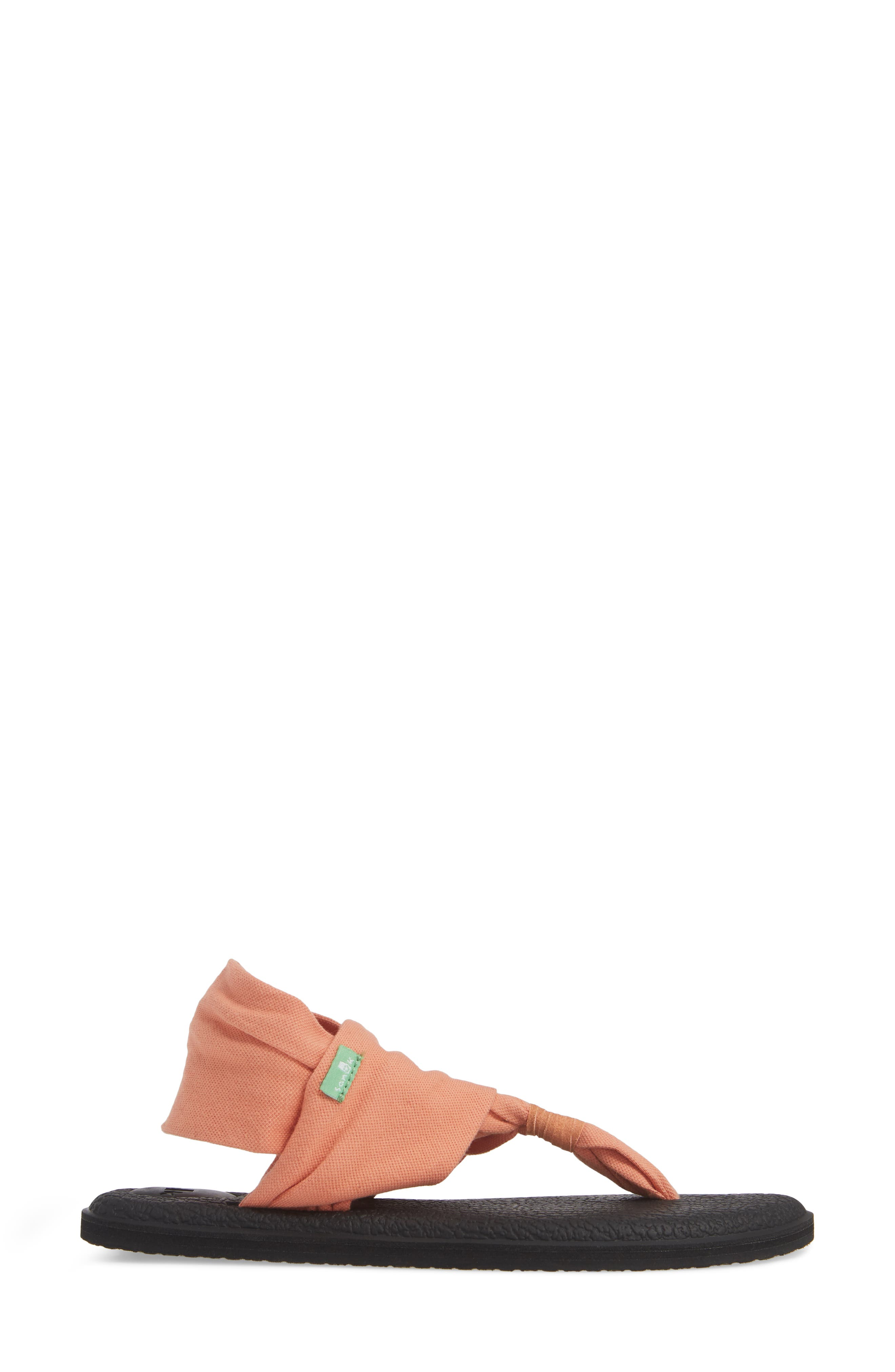 SANUK, 'Yoga Sling 2' Sandal, Alternate thumbnail 3, color, CARNELIAN