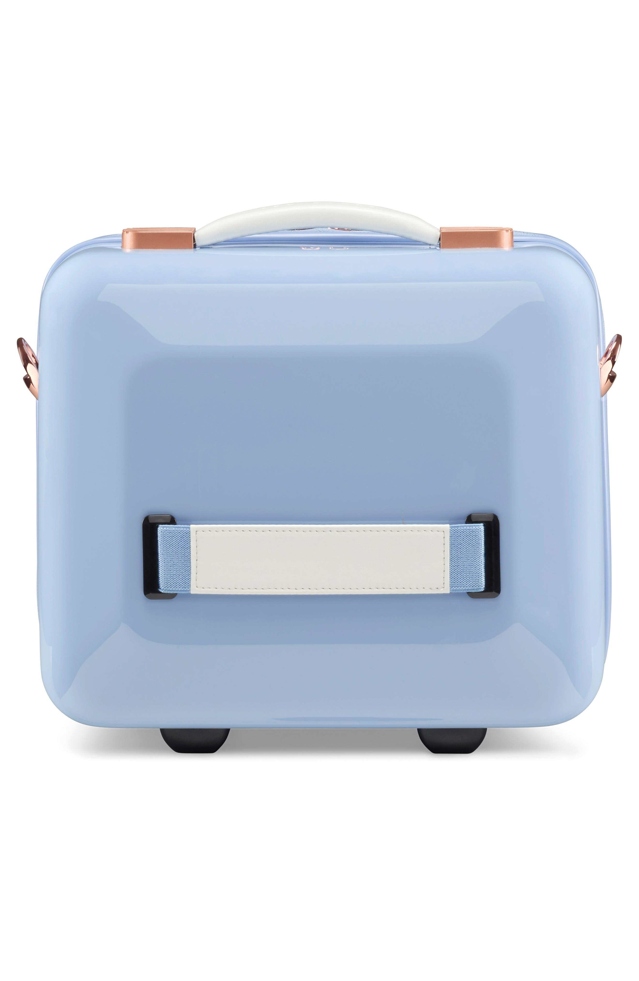 TED BAKER LONDON, Harmony Print Vanity Case, Alternate thumbnail 4, color, BLUE