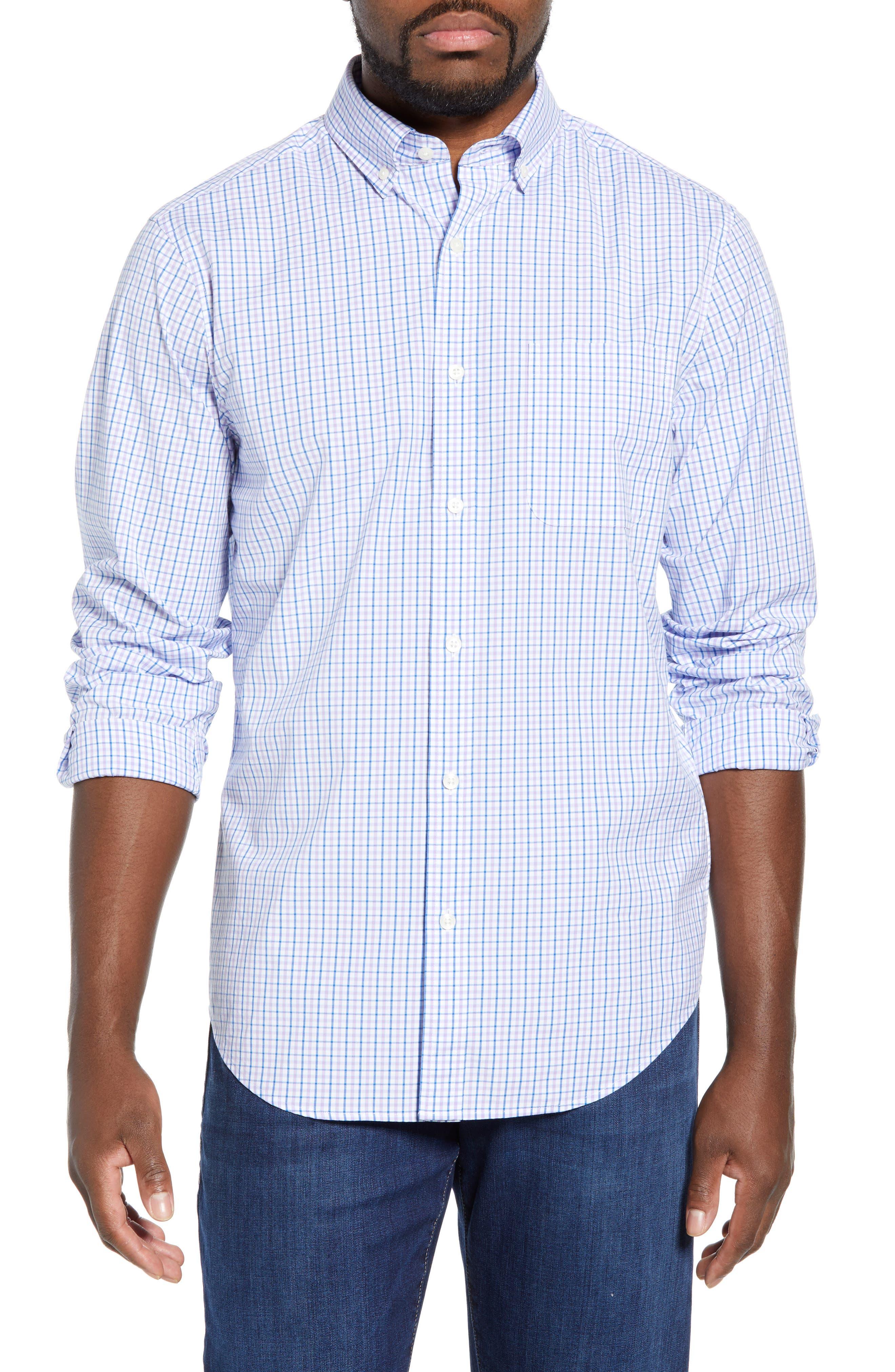VINEYARD VINES Tucker Regular Fit Balter Tattersall Sport Shirt, Main, color, SEA URCHIN