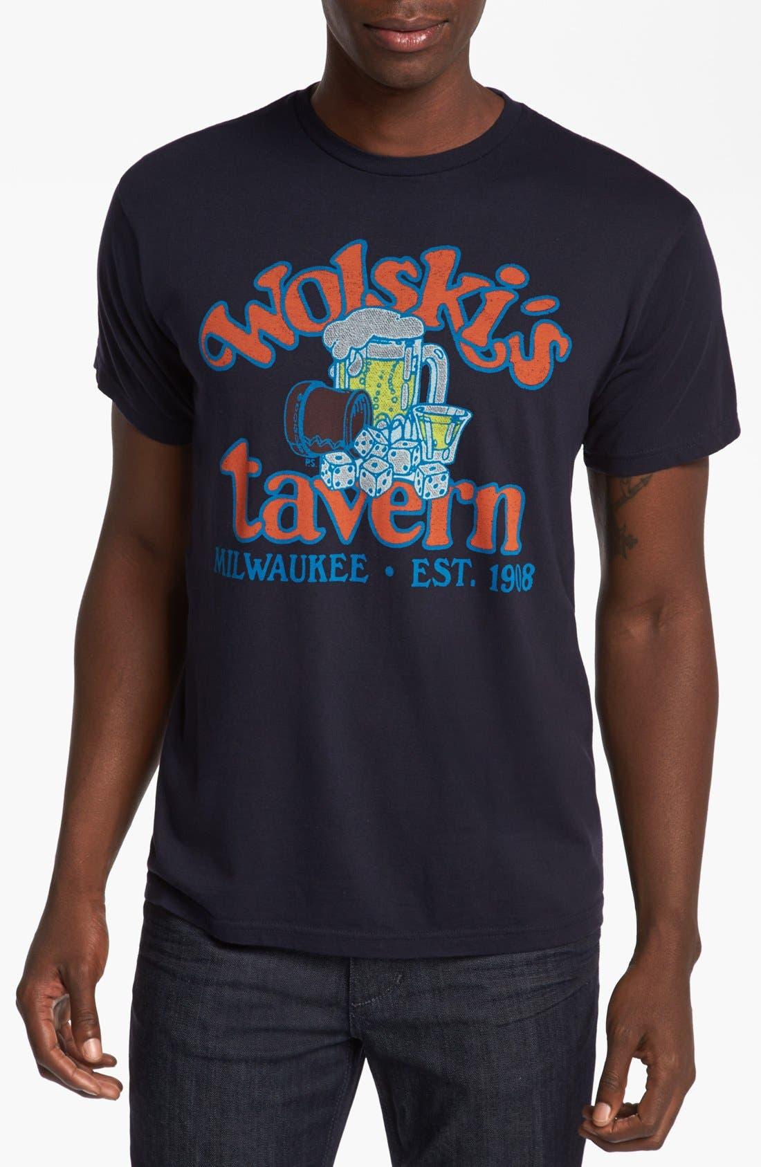 HORSES CUT SHOP, 'Wolski's' T-Shirt, Main thumbnail 1, color, 410