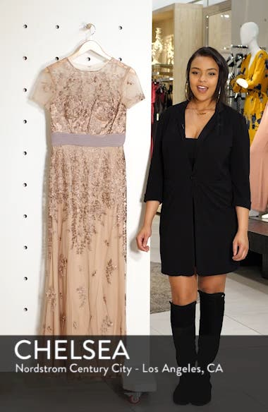 Floral Embroidered Evening Dress, sales video thumbnail
