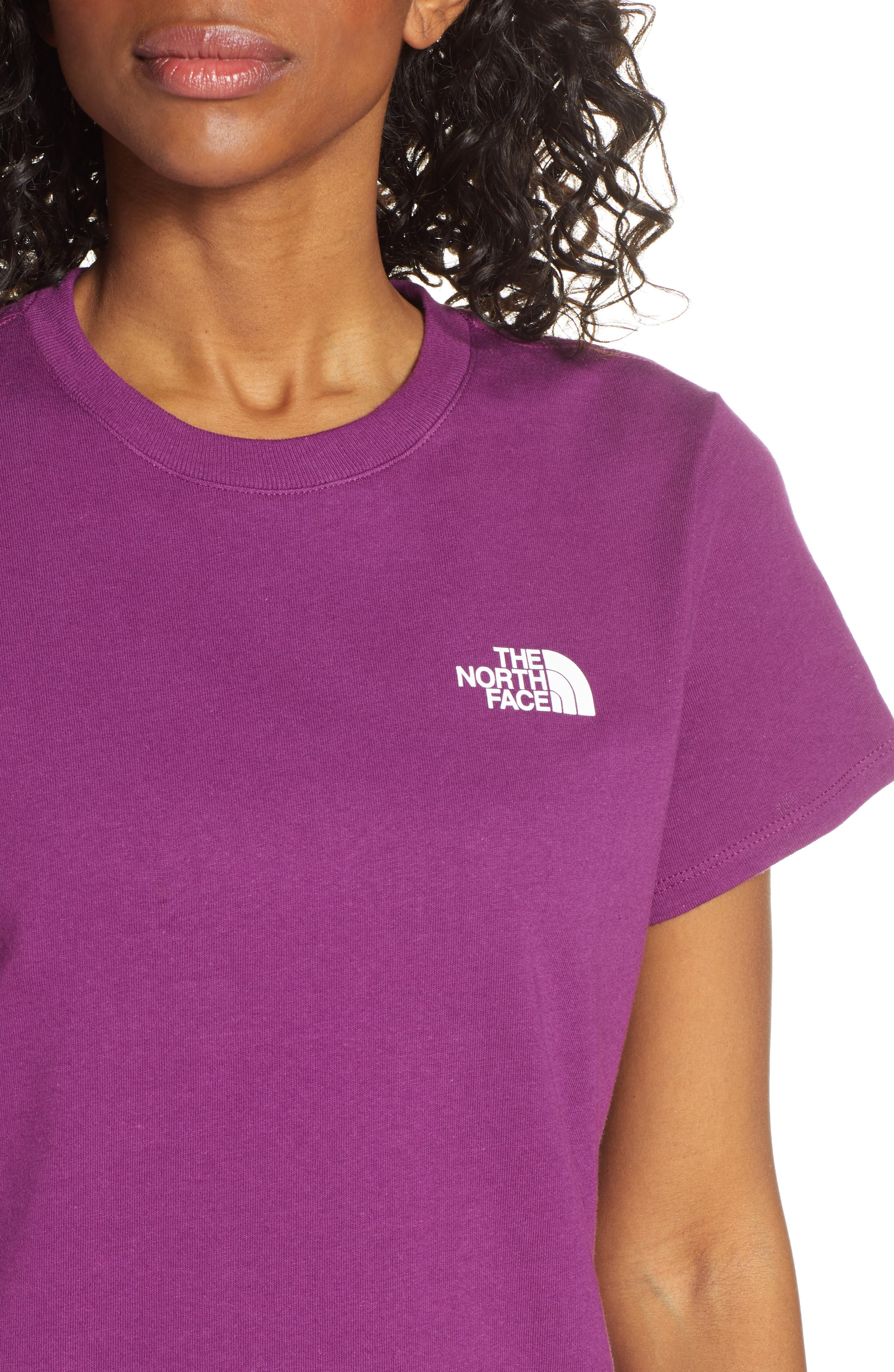 THE NORTH FACE, Red Box Tee, Alternate thumbnail 5, color, Phlox Purple/Aztec Blue