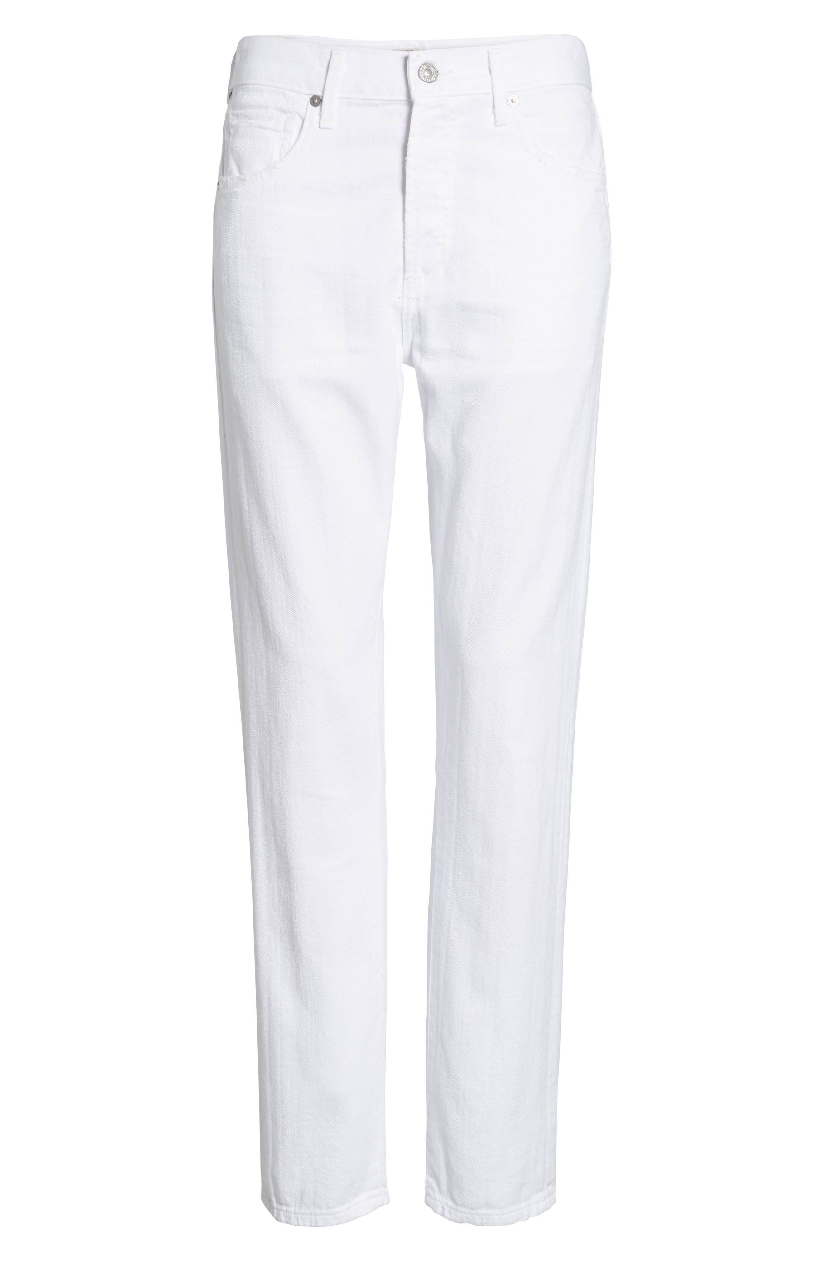 CITIZENS OF HUMANITY, Corey Slouchy Slim Jeans, Alternate thumbnail 7, color, DISTRESSED WHITE