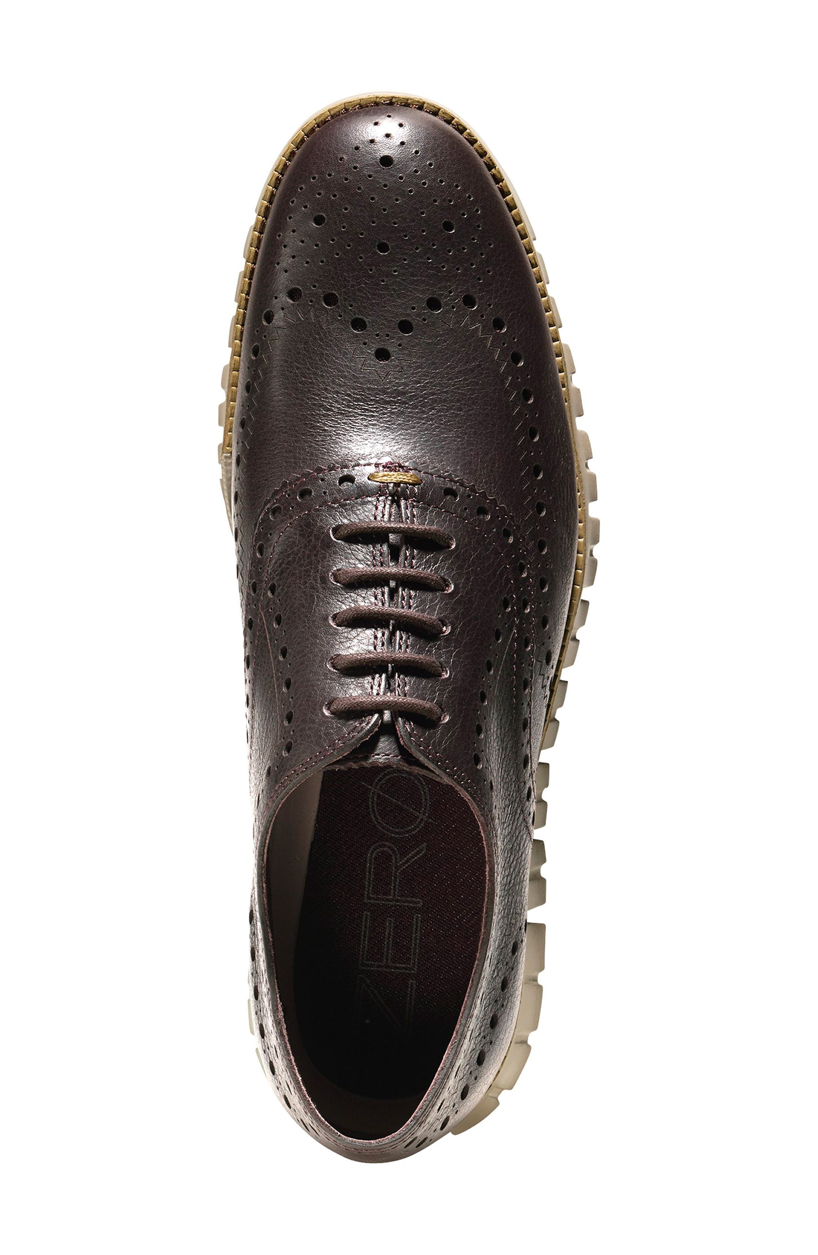 COLE HAAN, 'ZeroGrand' Wingtip Oxford, Alternate thumbnail 4, color, JAVA LEATHER