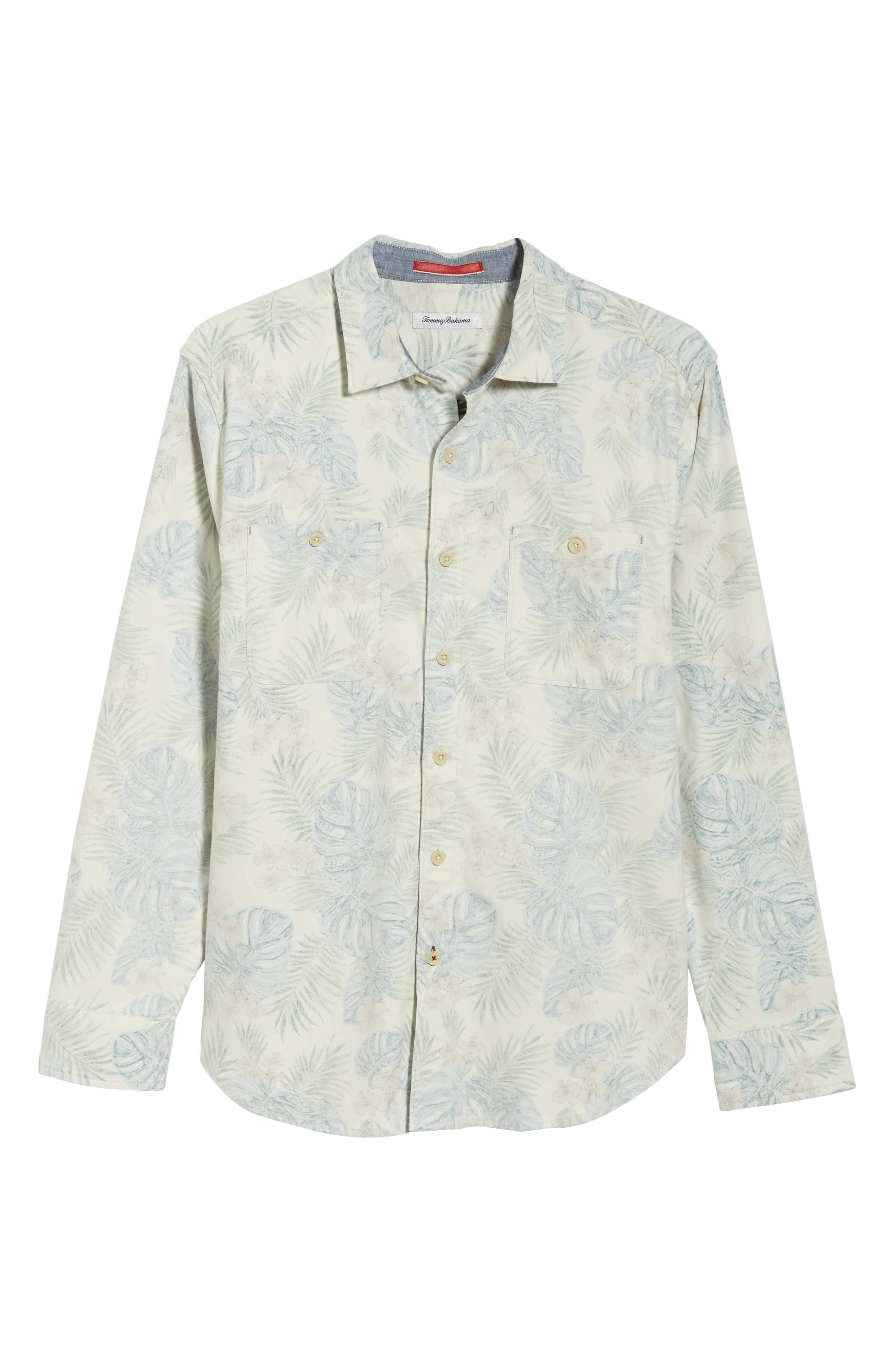 TOMMY BAHAMA, Beach Palms Long Sleeve Flannel Sport Shirt, Alternate thumbnail 6, color, 200