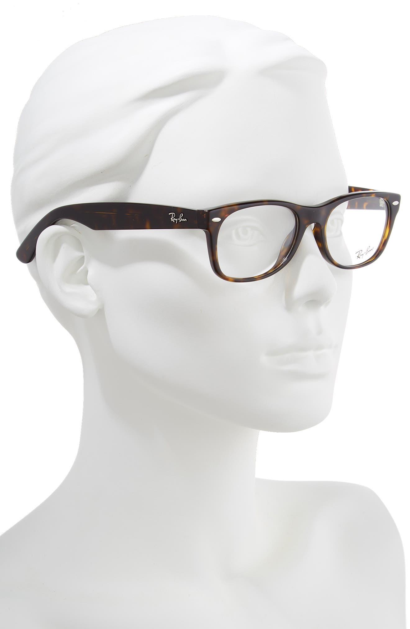 RAY-BAN, 52mm Optical Glasses, Alternate thumbnail 2, color, DARK HAVANA