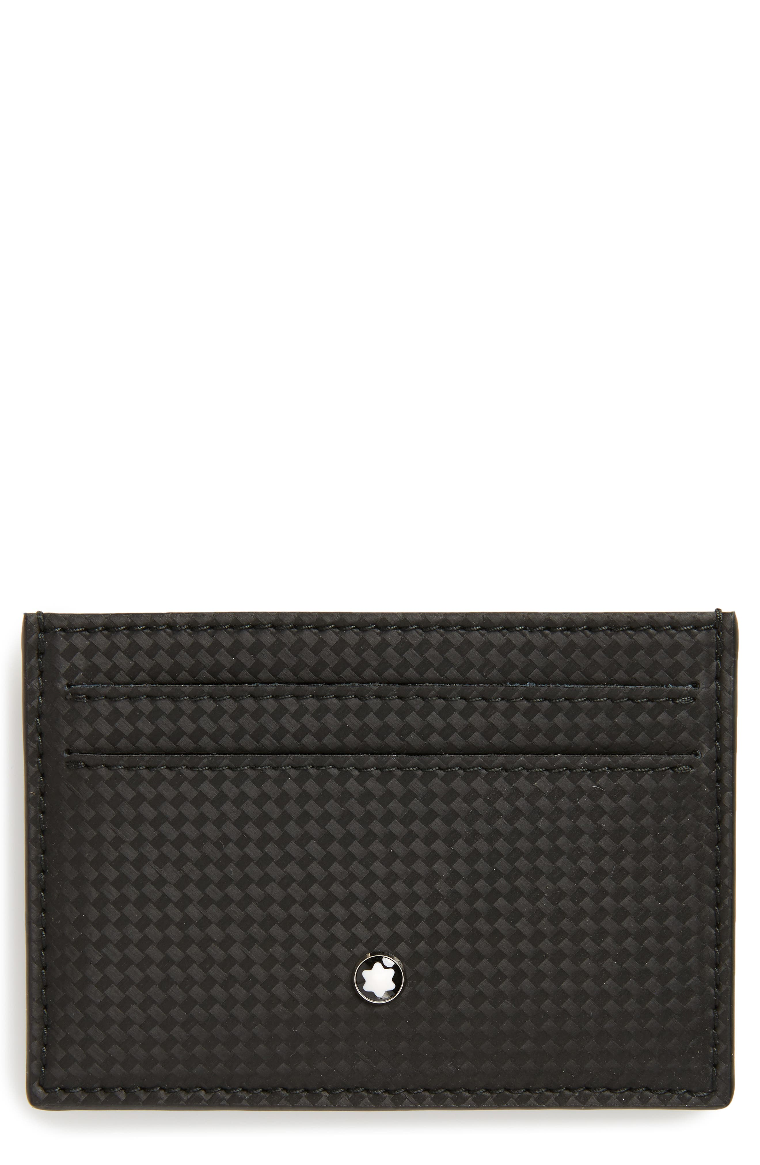 MONTBLANC, Extreme Leather Card Case, Main thumbnail 1, color, 001