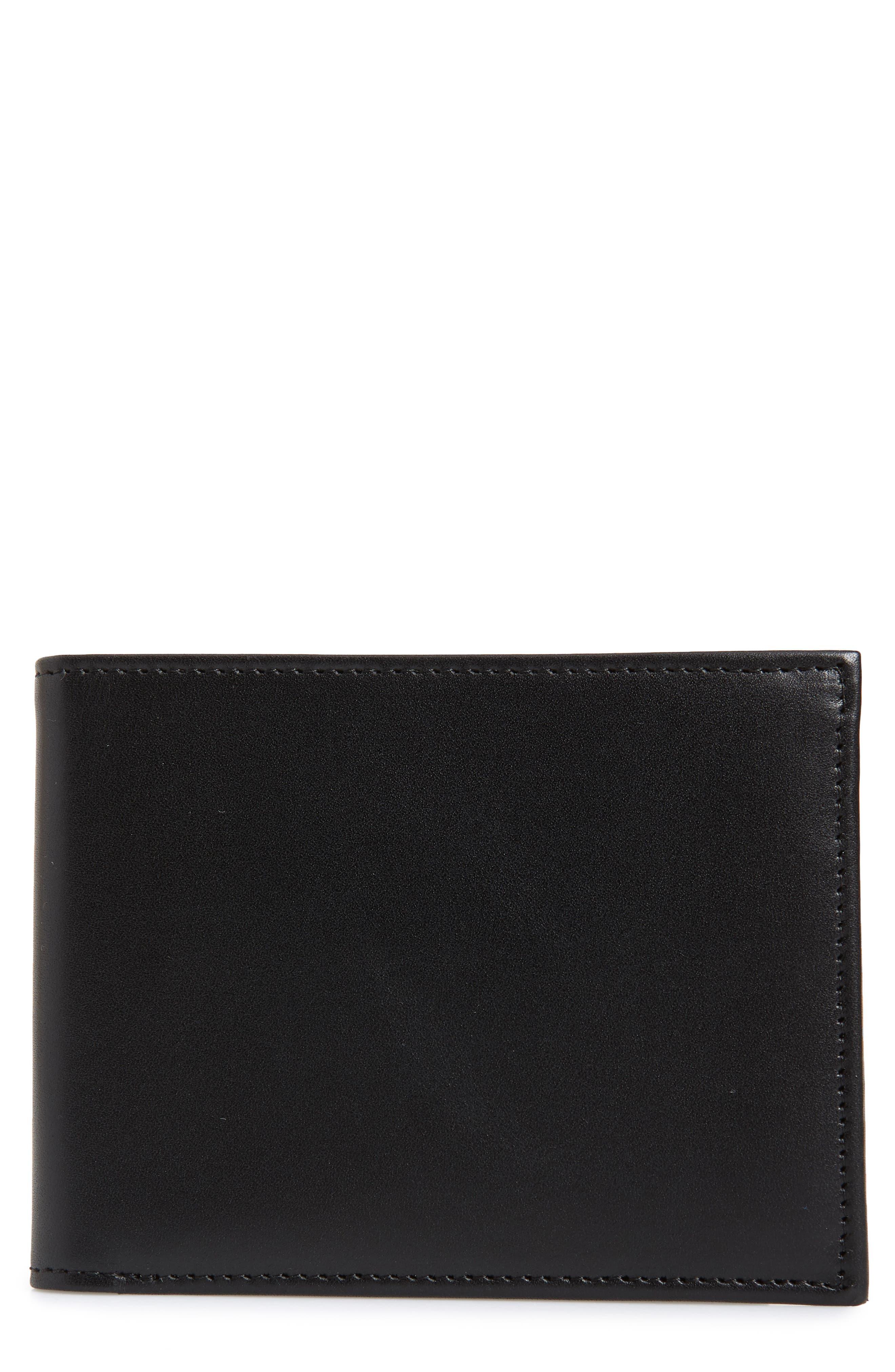 NORDSTROM MEN'S SHOP, Chelsea Leather Wallet, Main thumbnail 1, color, BLACK