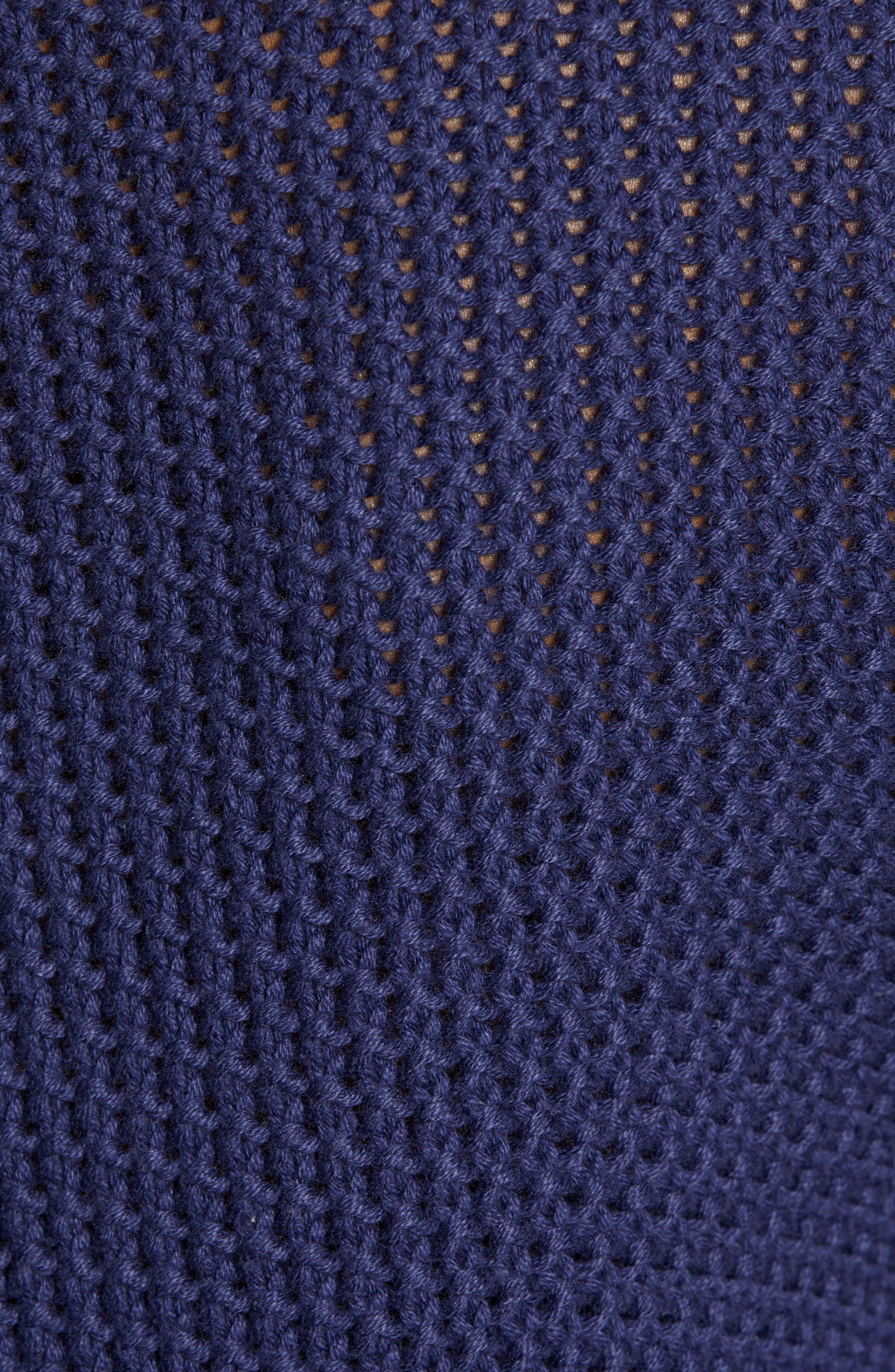 CASLON<SUP>®</SUP>, Stitch Stripe Sweater, Alternate thumbnail 5, color, NAVY PEACOAT
