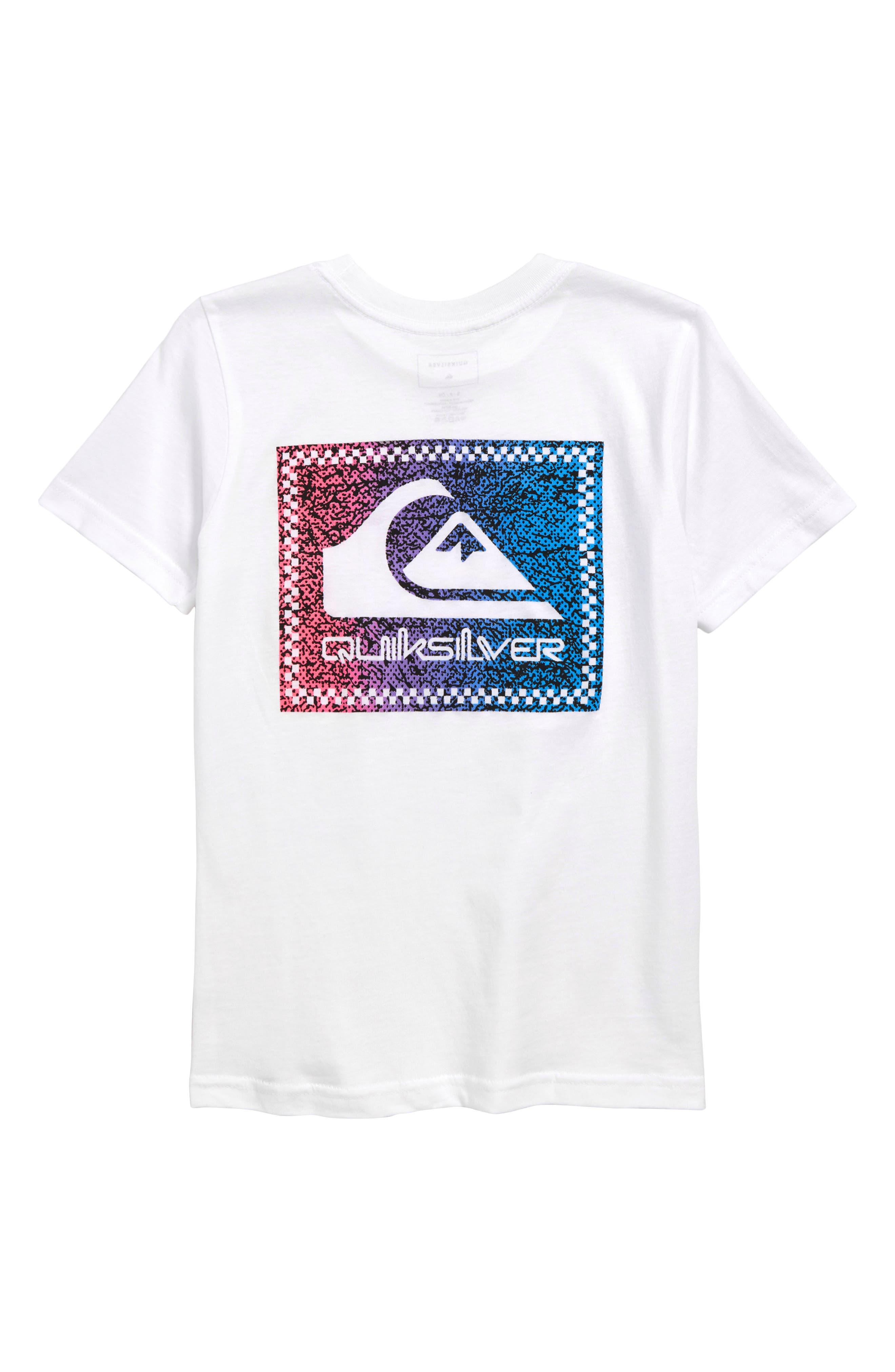 QUIKSILVER, Time Warp T-Shirt, Alternate thumbnail 2, color, WHITE